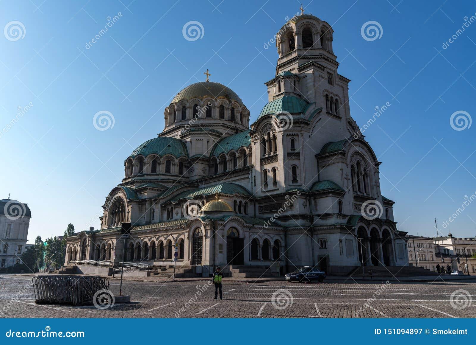 Alexander Nevsky Cathedral en el centro de la ciudad de Sof?a, Bulgaria
