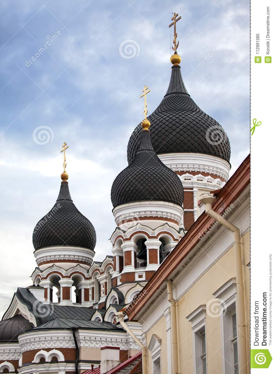 Alexander Nevsky Cathedral. Old city, Tallinn, Estonia