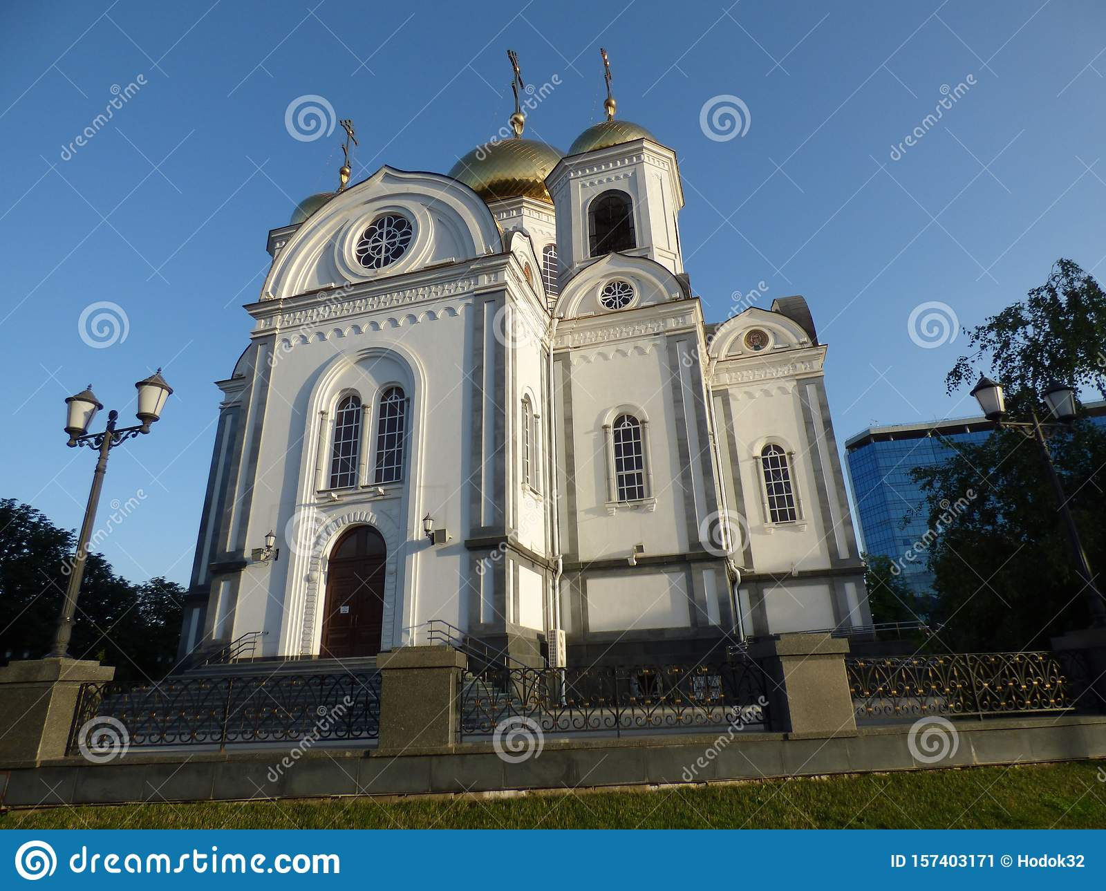 Alexander Nevsky Church Krasnodar Krasnodar Krai Stock Image Image Of People Looking 157403171