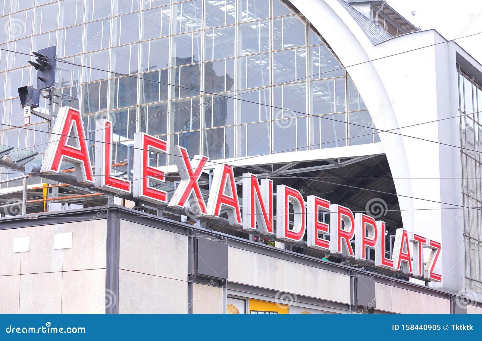Alexanderplatz - Bahnhof Berlin Deutschland Redaktionelles Bild - Bild von  metro, untergrundbahn: 158440905
