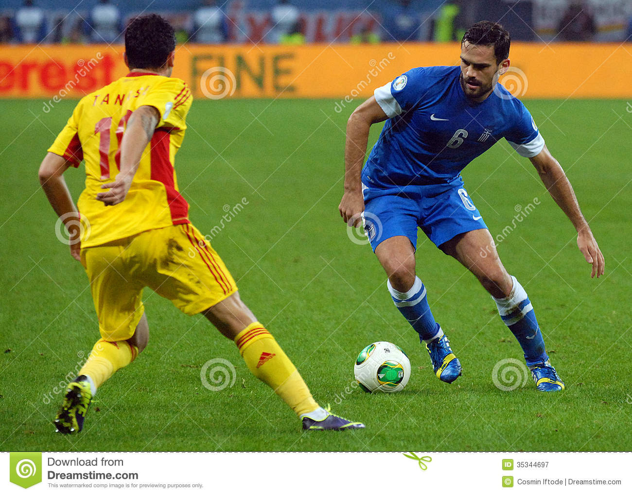 Download Alexandros Tziolis During Fifa World Cup Playoff Game Editorial Photography Image Of Action