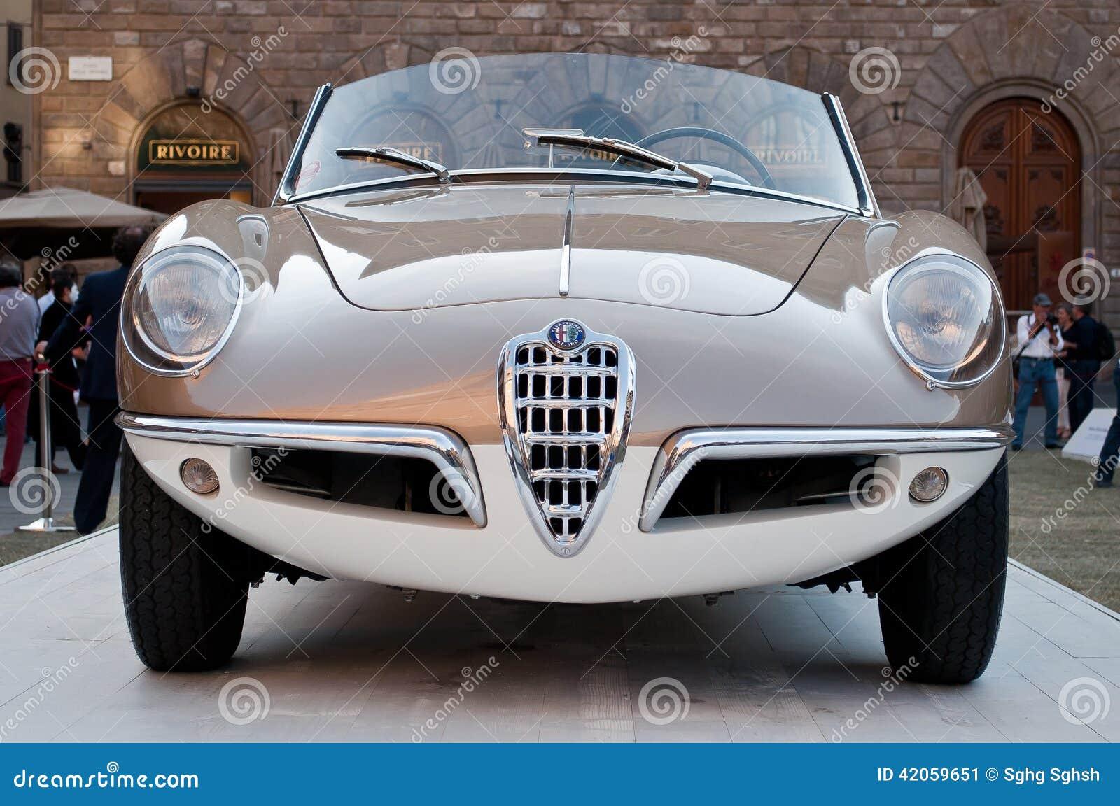 alfa romeo giulietta spider 1955 editorial photo - image: 42059651