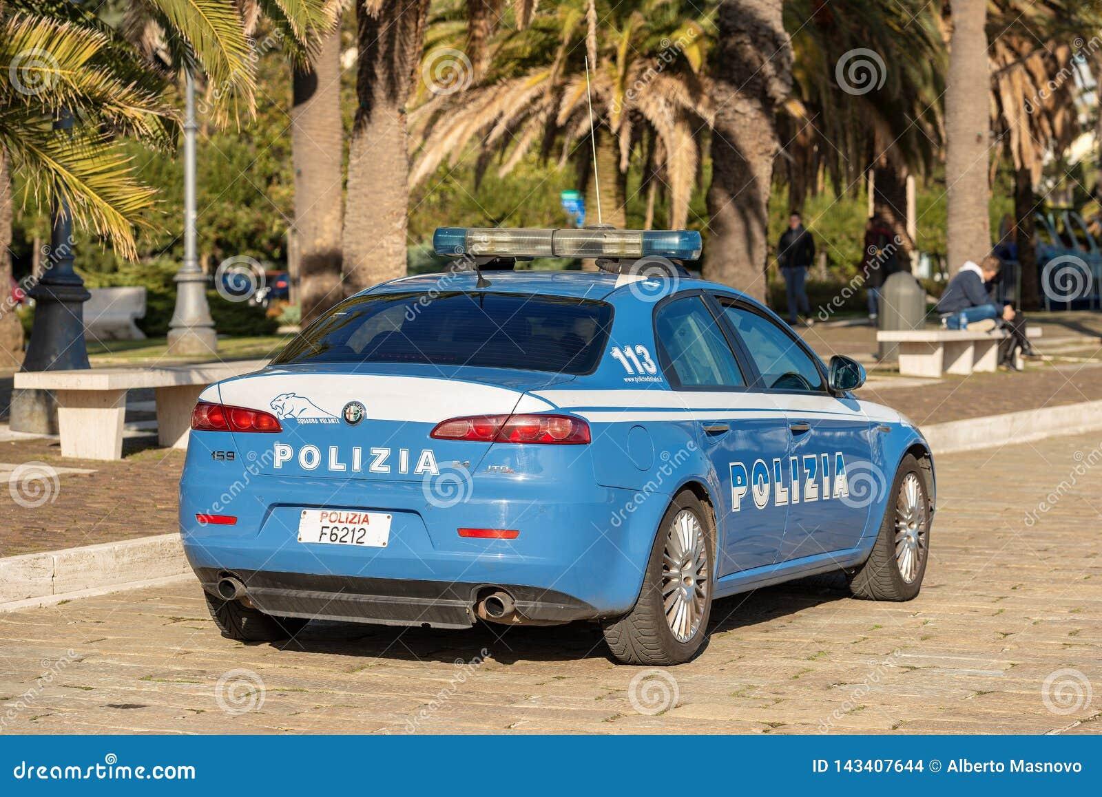 Alfa Romeo 159 JTDM - italiensk polisbil i La Spezia