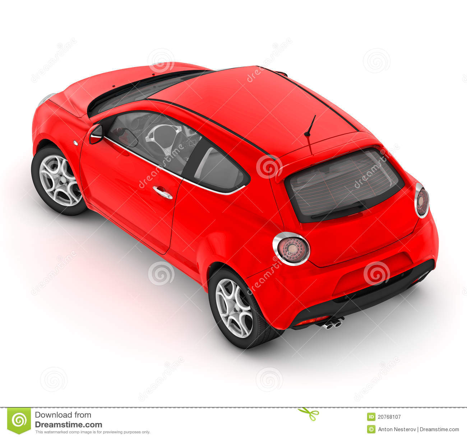 Alfa Romeo MiTo (2008) Stock Illustration. Illustration Of