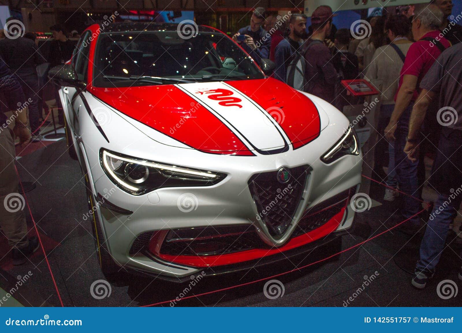 Alfa Romeo Stelvio At Geneva 2019 Editorial Photography Image Of Salon Powerful 142551757