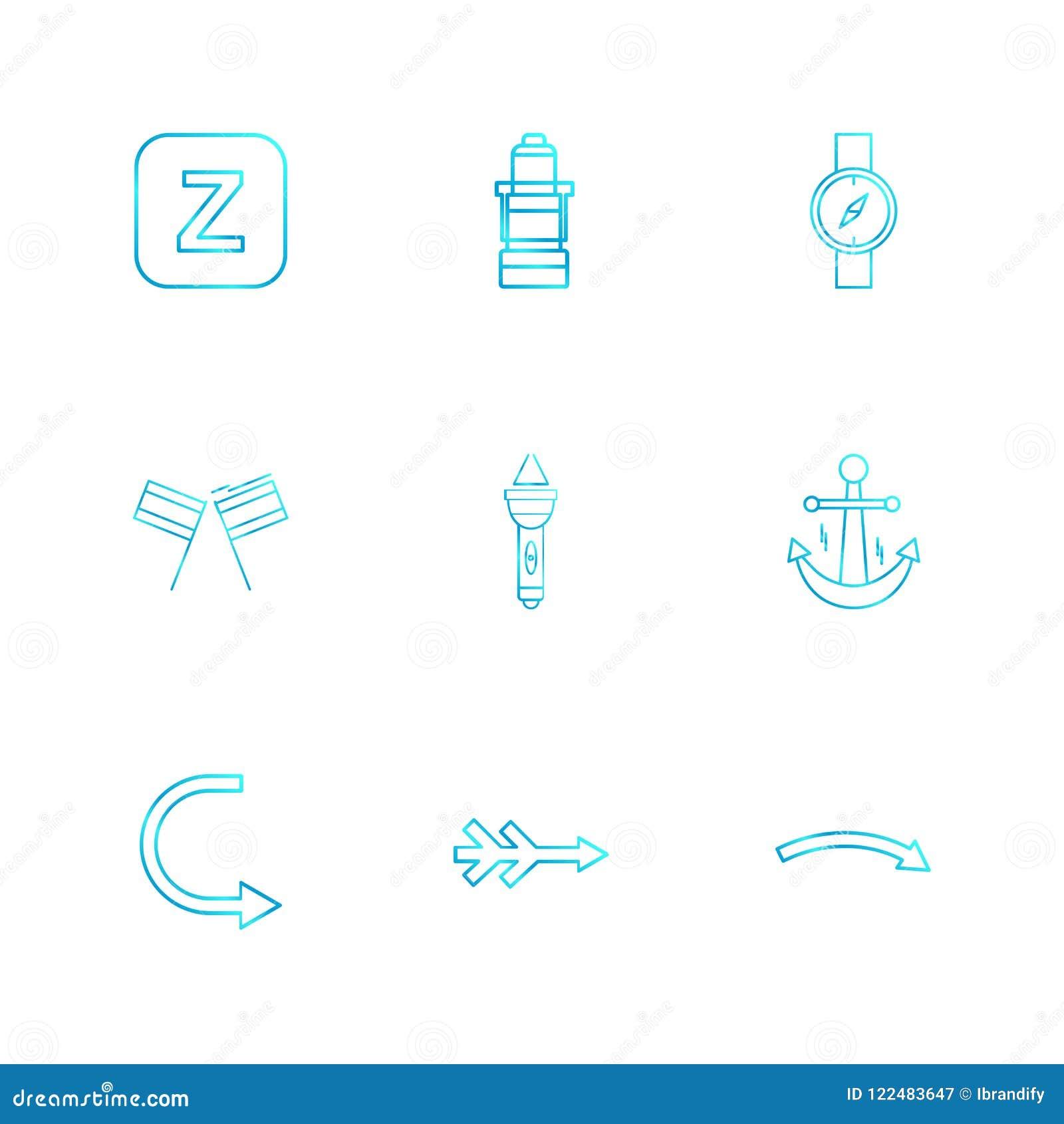 Alfabet havet, mat, picknicken, sommar, eps-symboler ställde in vektorn