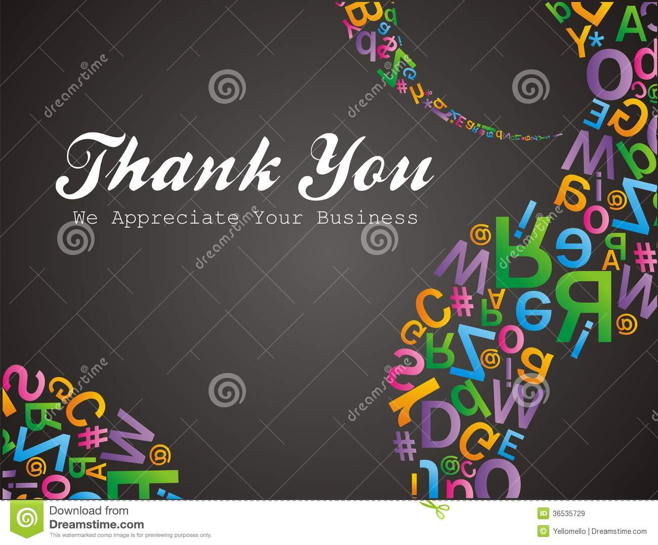 Thank You - We Appreciate Your Business Stock Illustration ...