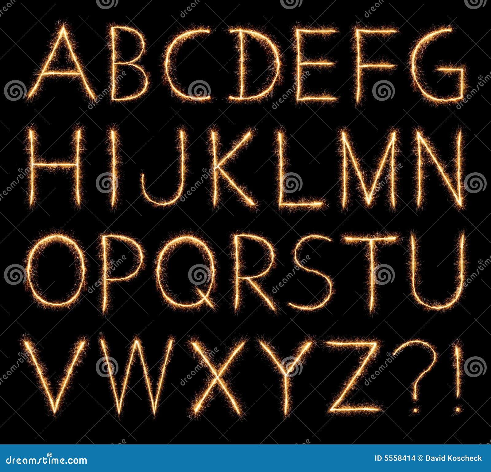 Alfabet som sparkling