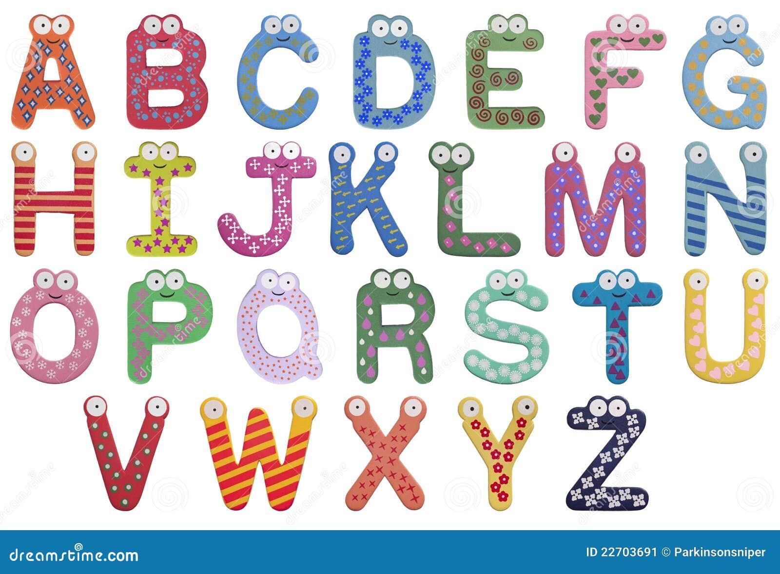 Alfabetbarnbokstäver