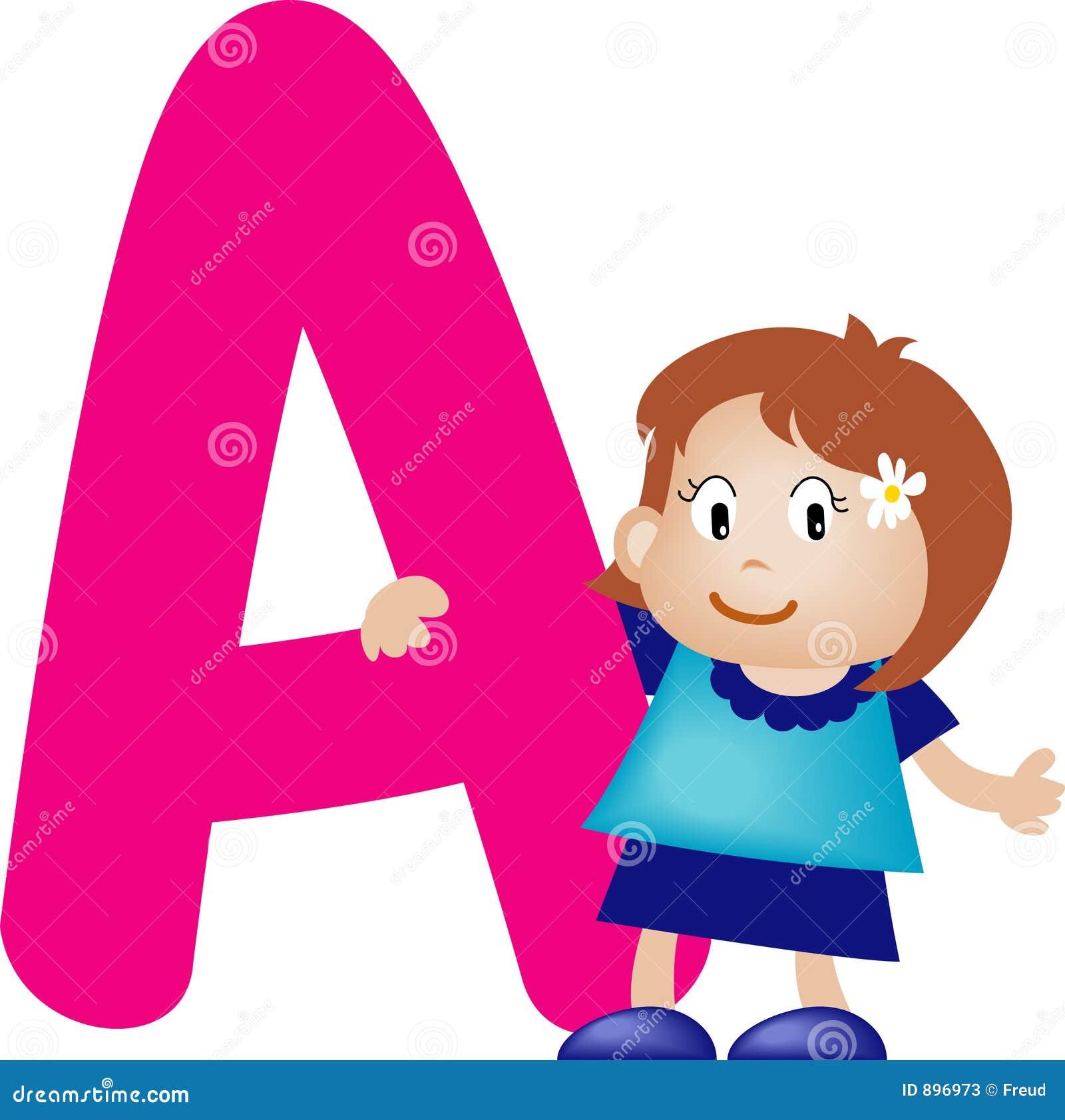 Alfabetflickabokstav