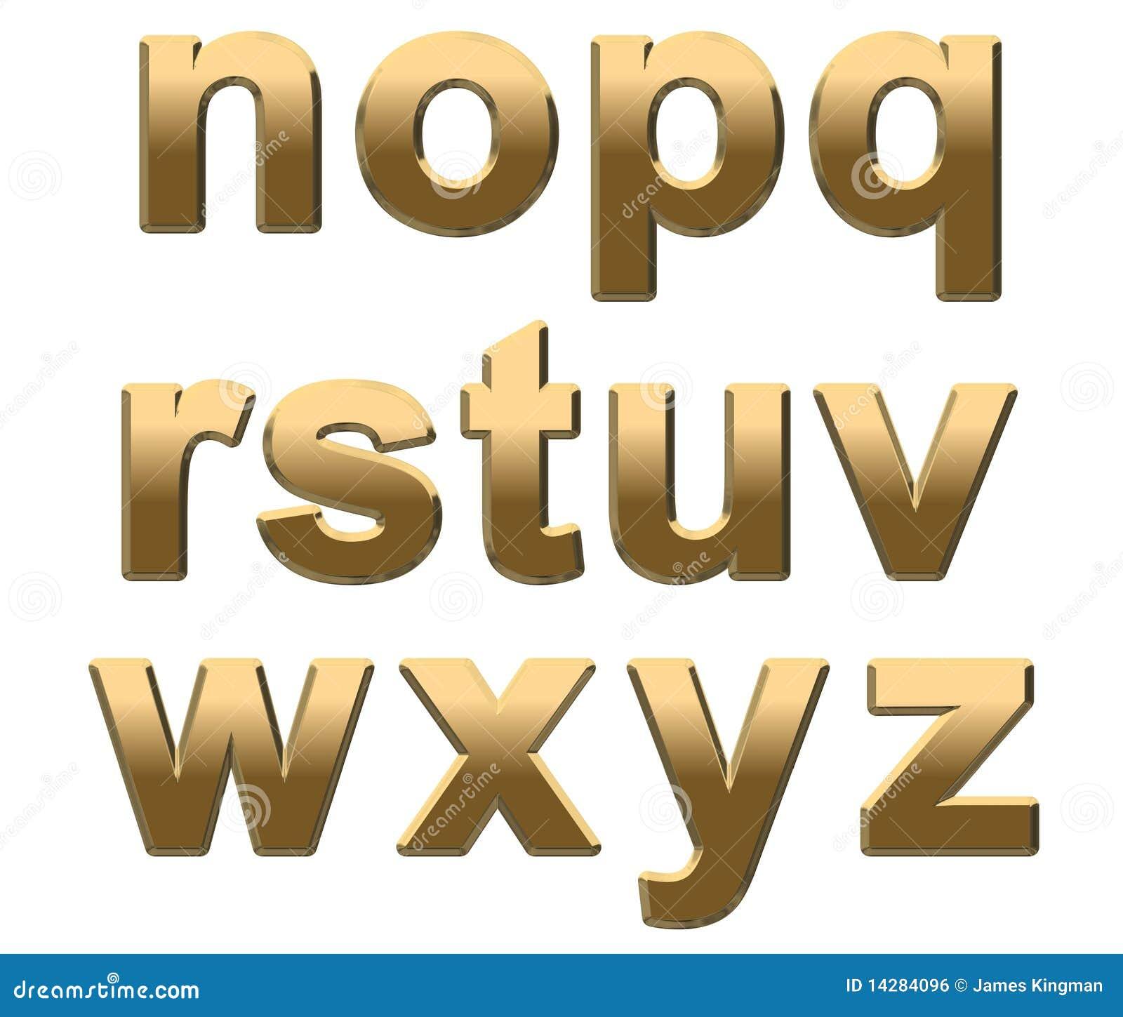 Alfabetguld letters litet n vitt z