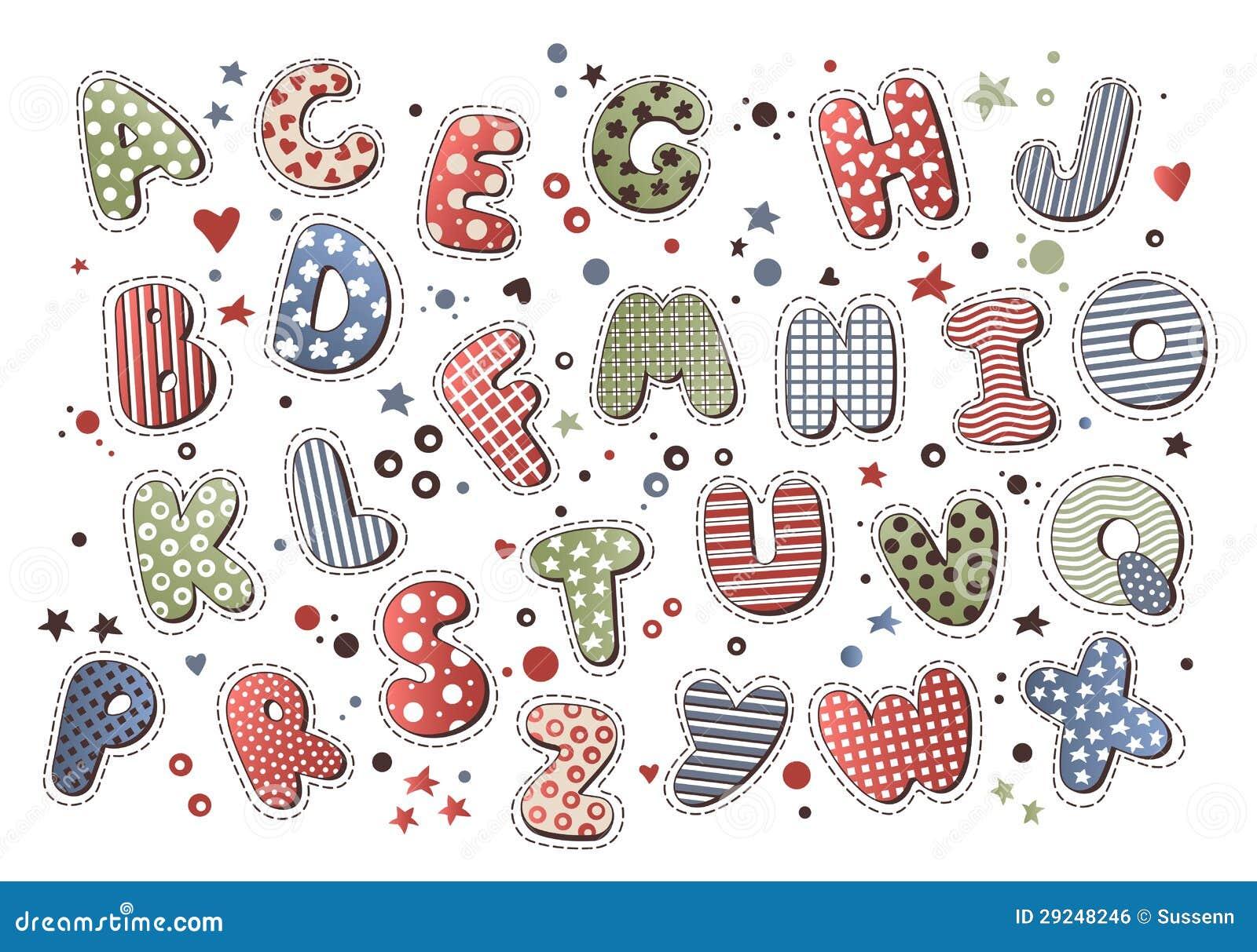 Download Alfabeto colorido ilustração do vetor. Ilustração de decoração - 29248246