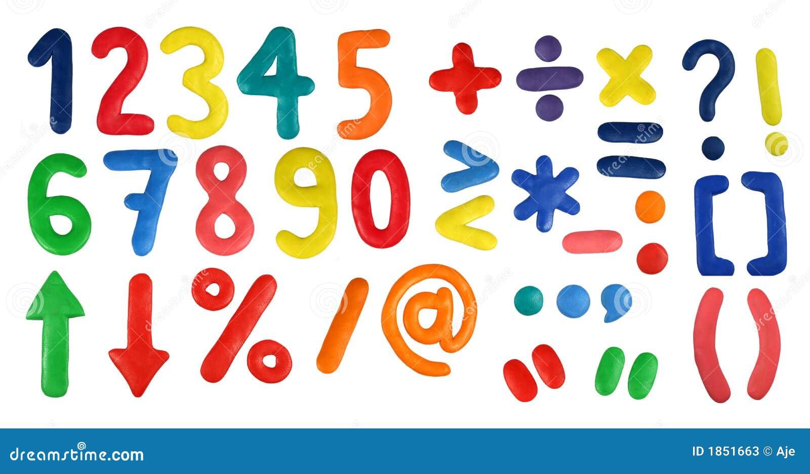 Alfabeto - dígitos e símbolos