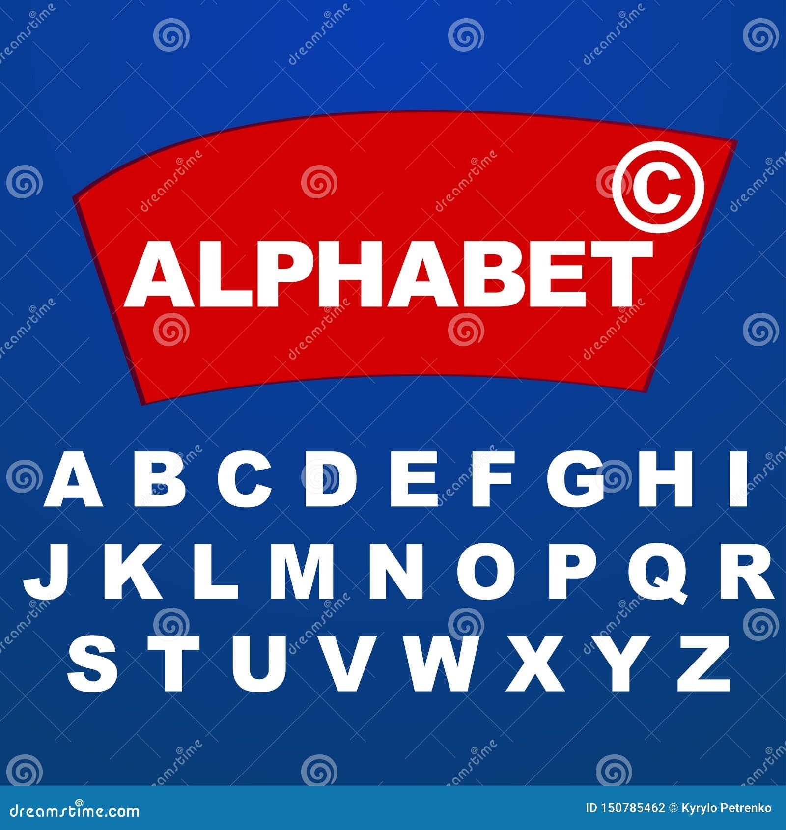 Alfabeto da fonte para o nome do logotipo do tipo da empresa
