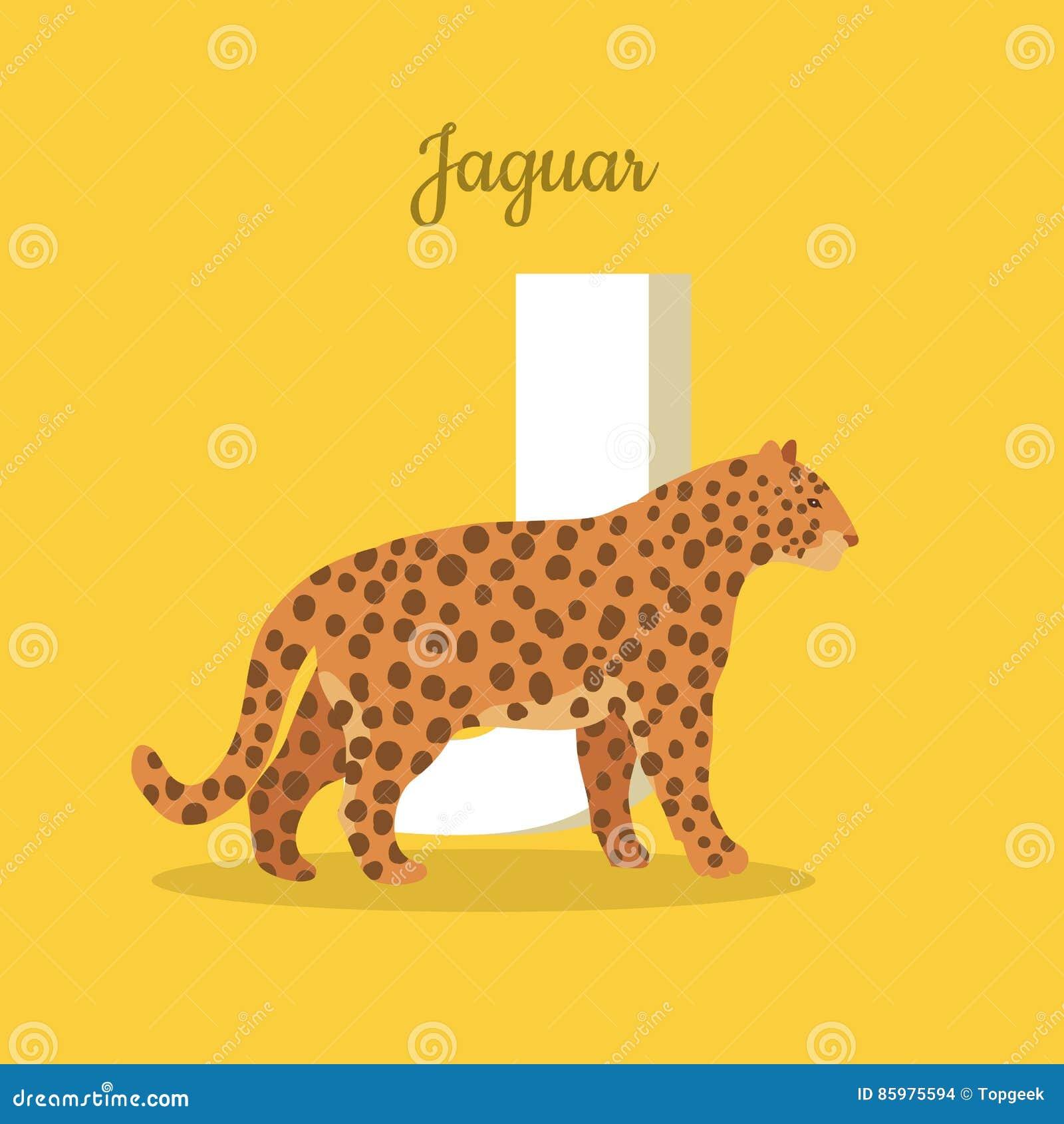 Alfabeto de los animales Letra - J