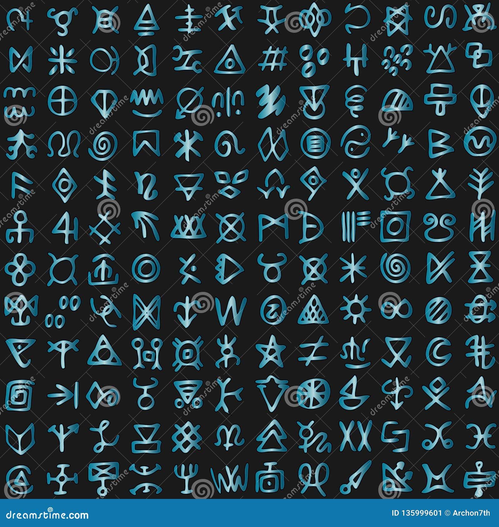 Alfabeto de programación del lenguaje del ciberespacio de la matriz extranjera digital futurista del código