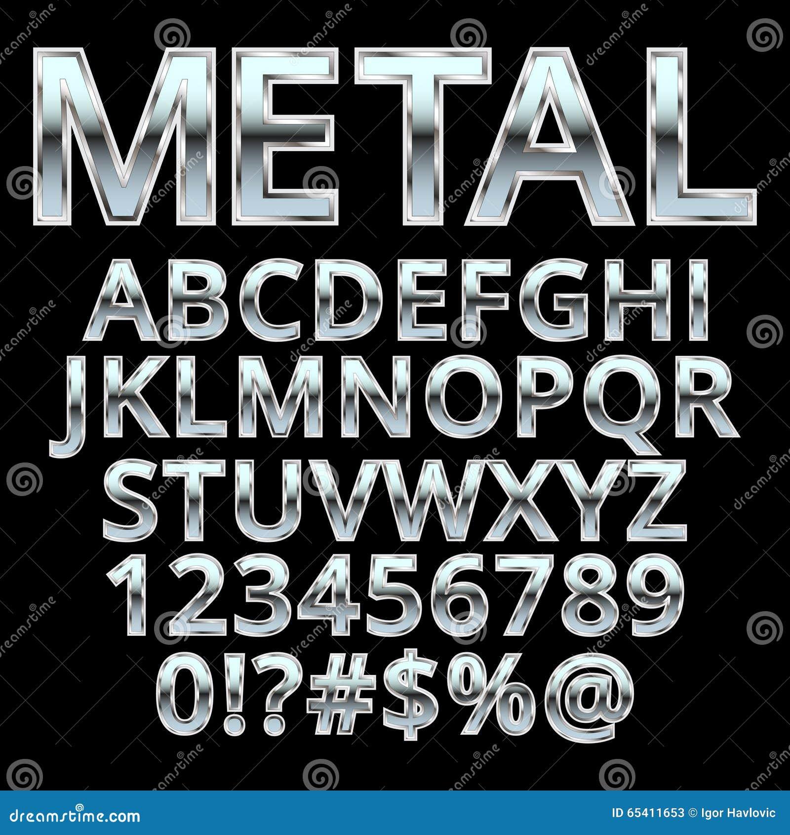 Alfabeto del estilo del metal