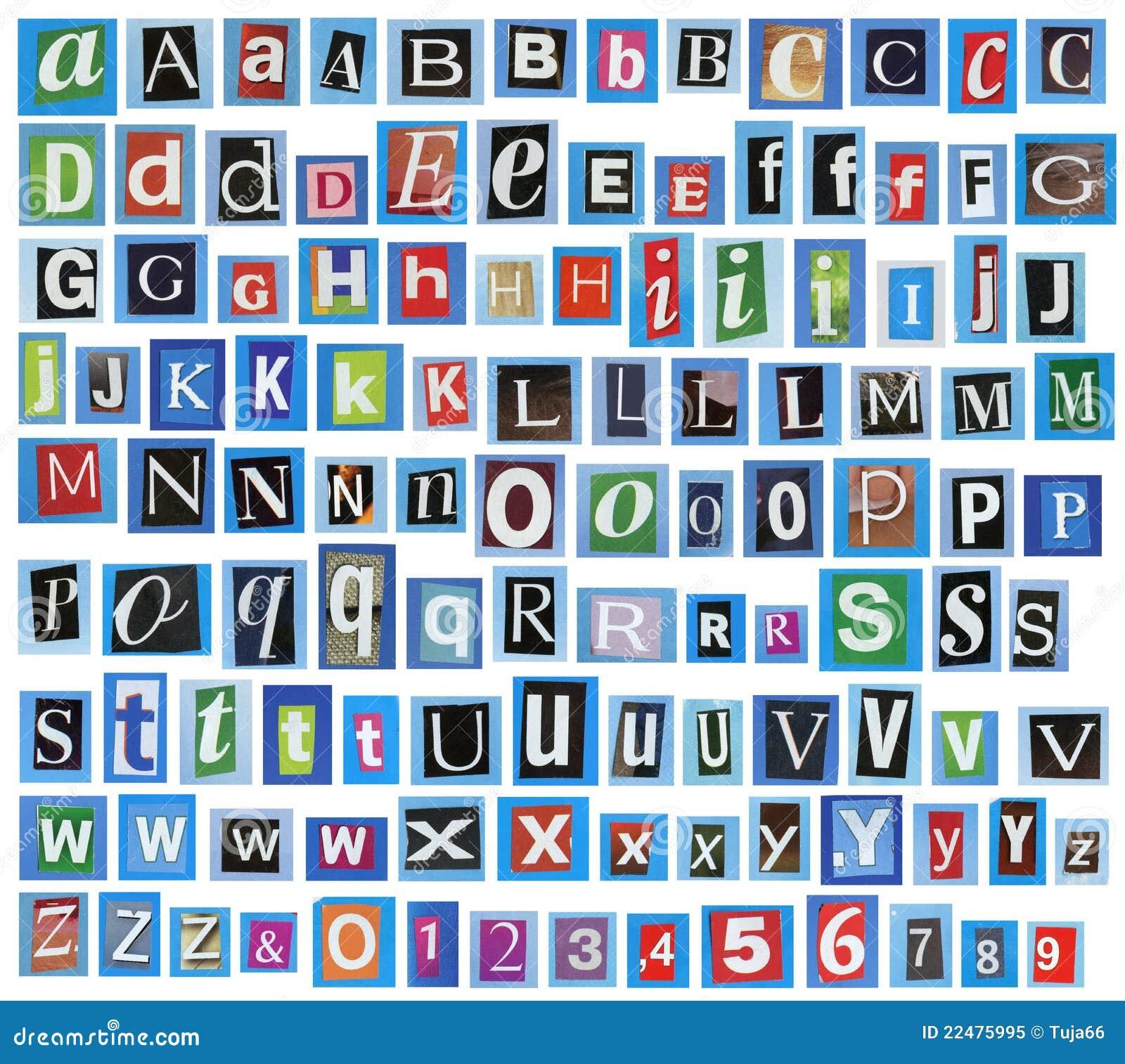 Alfabeto del giornale