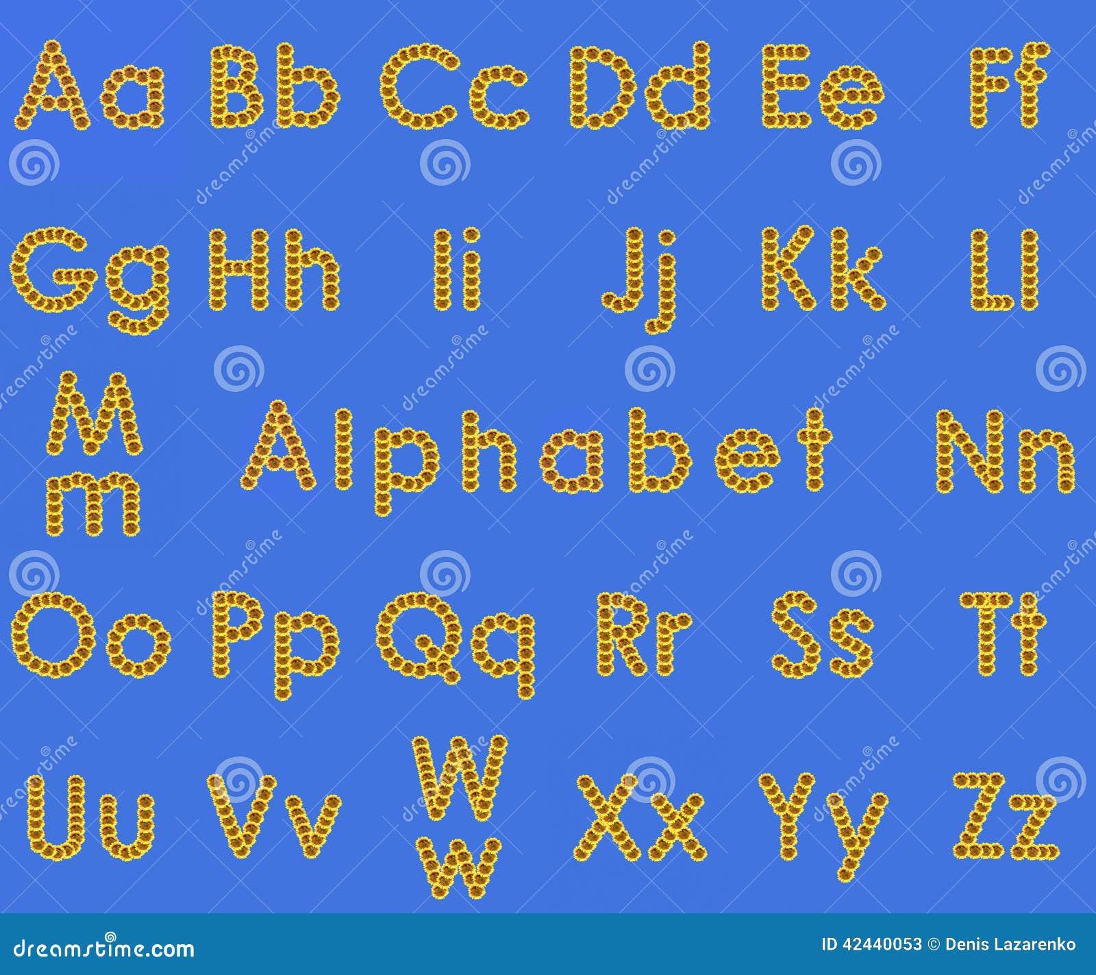 Alfabeto del girasol