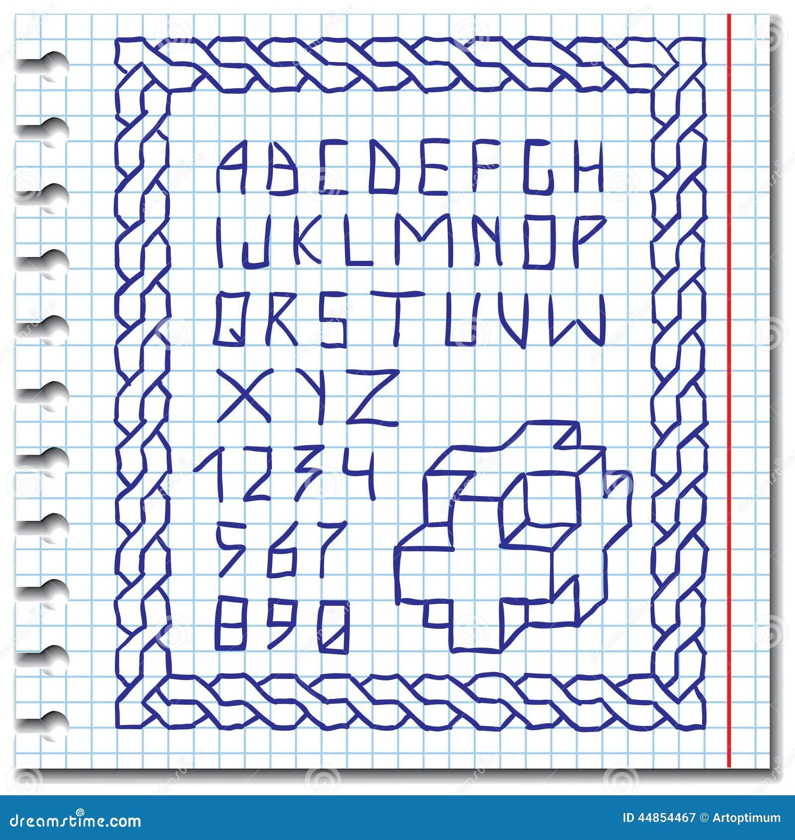 Alfabeto del gráfico de la mano