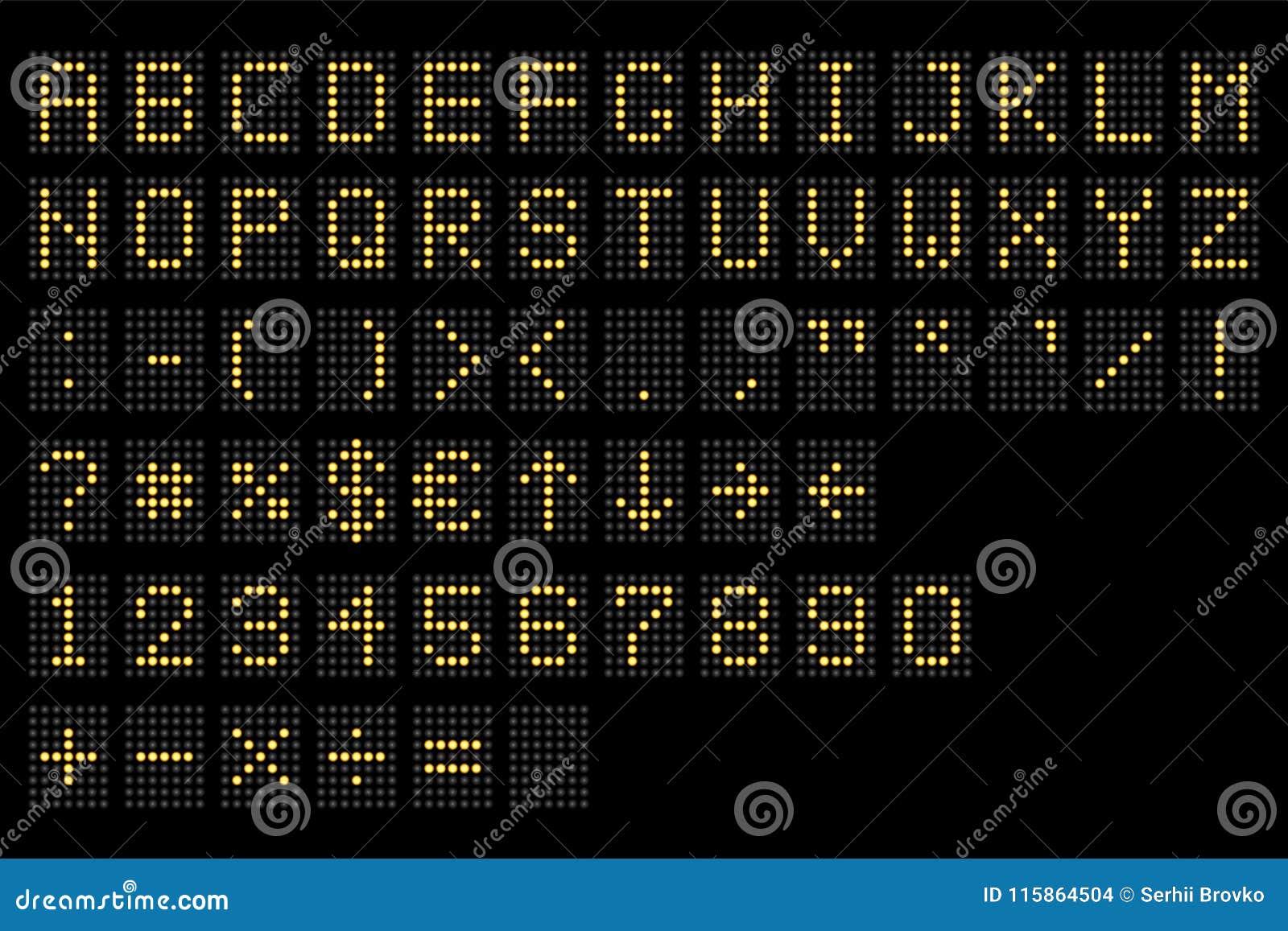 Alfabeto digital llevado Indicador digital electrónico del número y del alfabeto, letras y símbolos La tabla terminal de Digitace