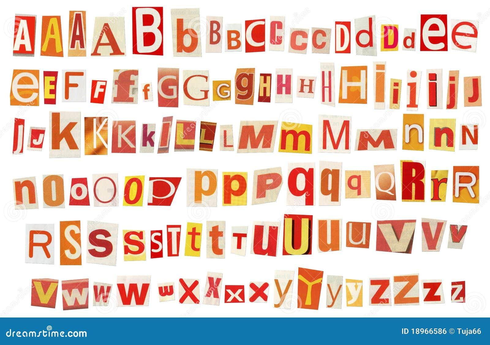 Alfabeto do jornal