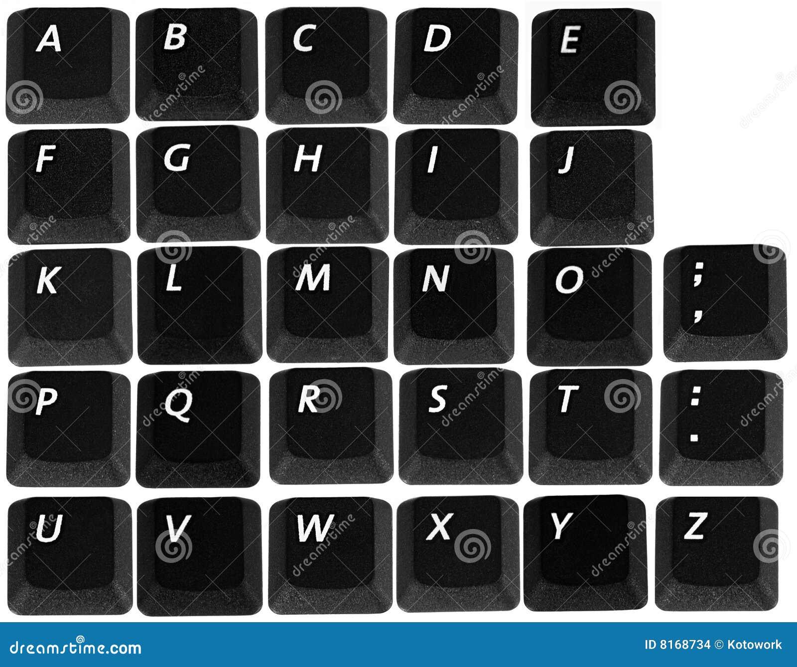 Alfabeto feito com as teclas dos teclados isoladas imagens for Imagenes de techados