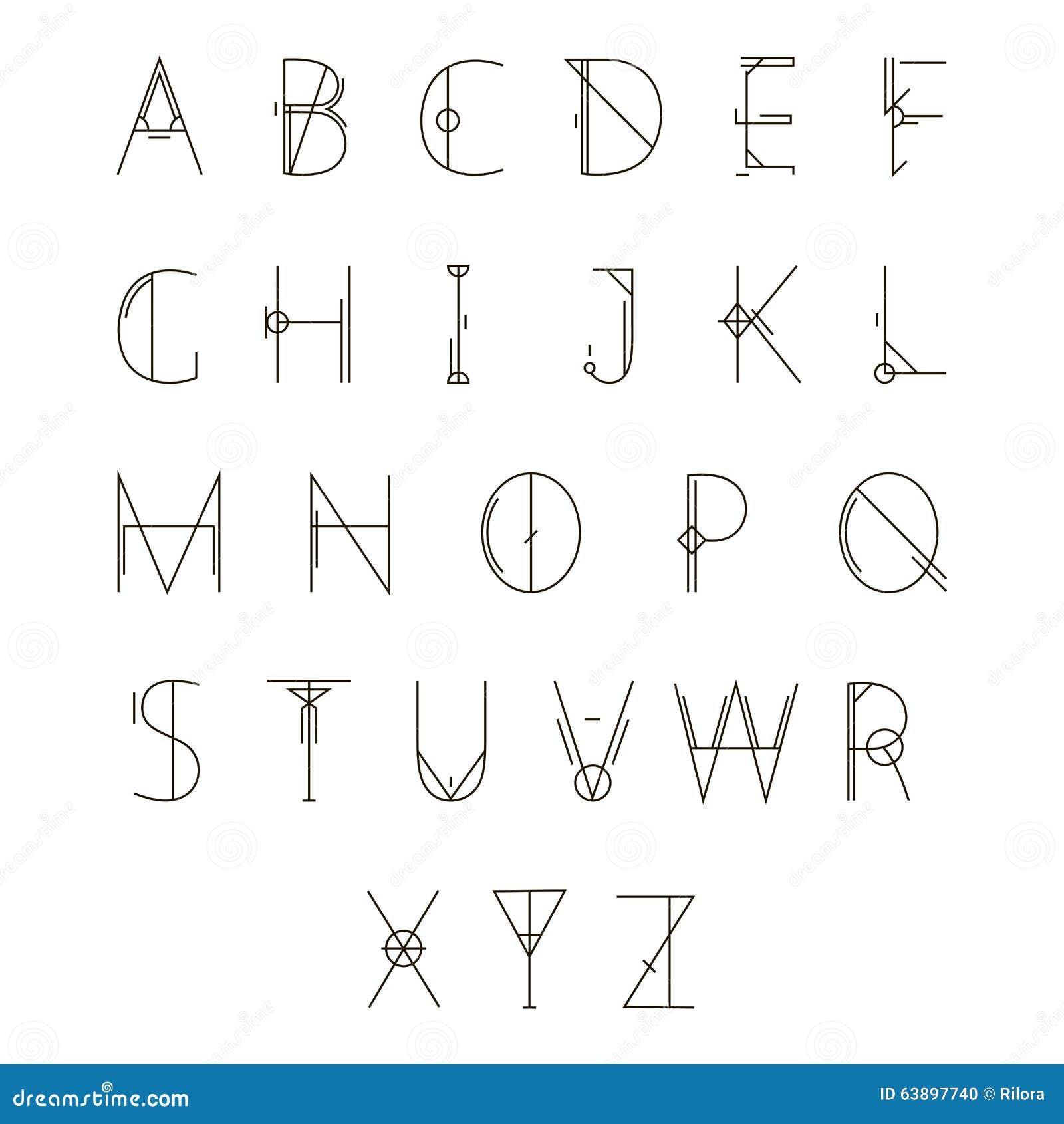 Alfabeto geométrico moderno