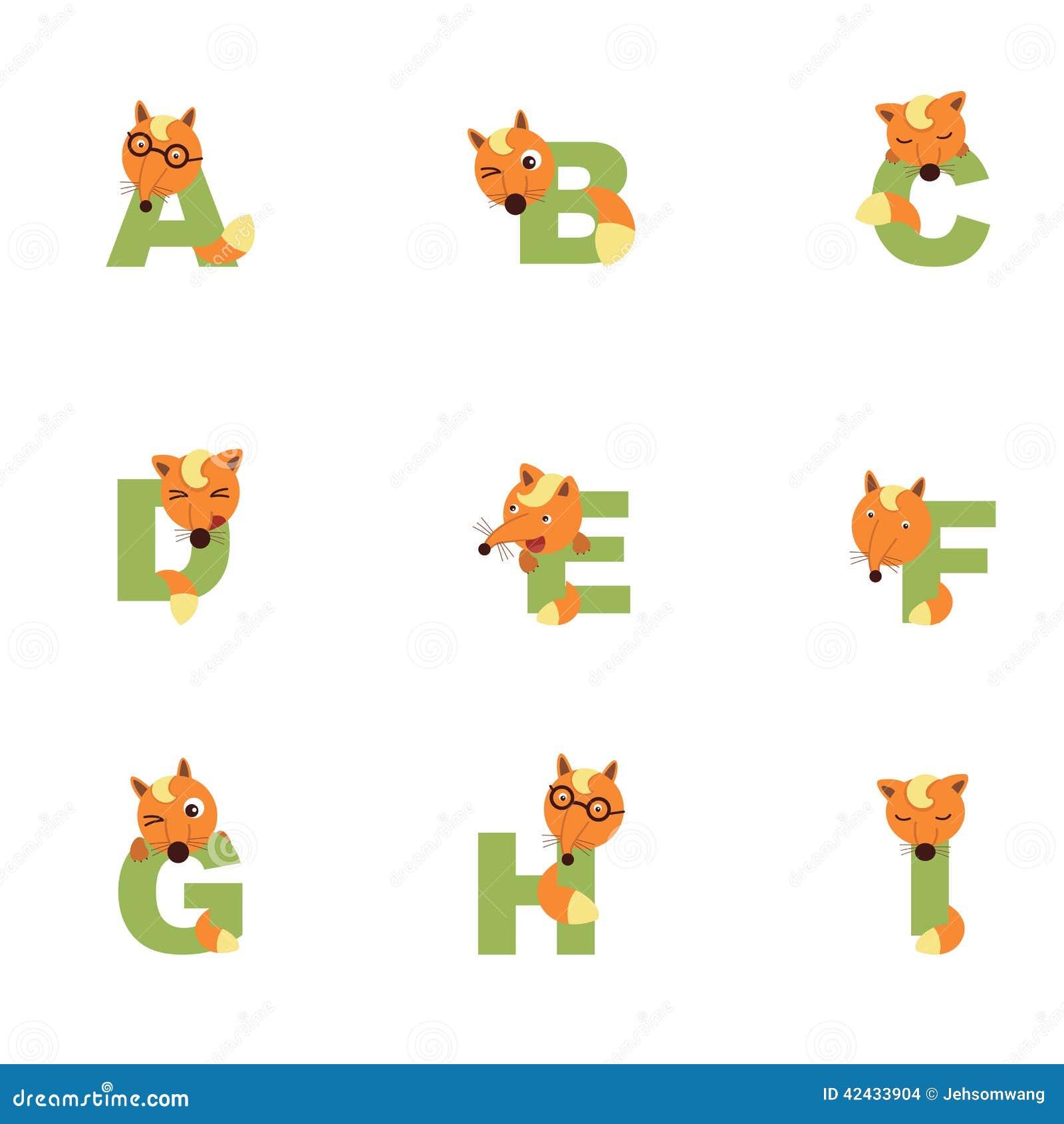 Alfabeto A-I Fox