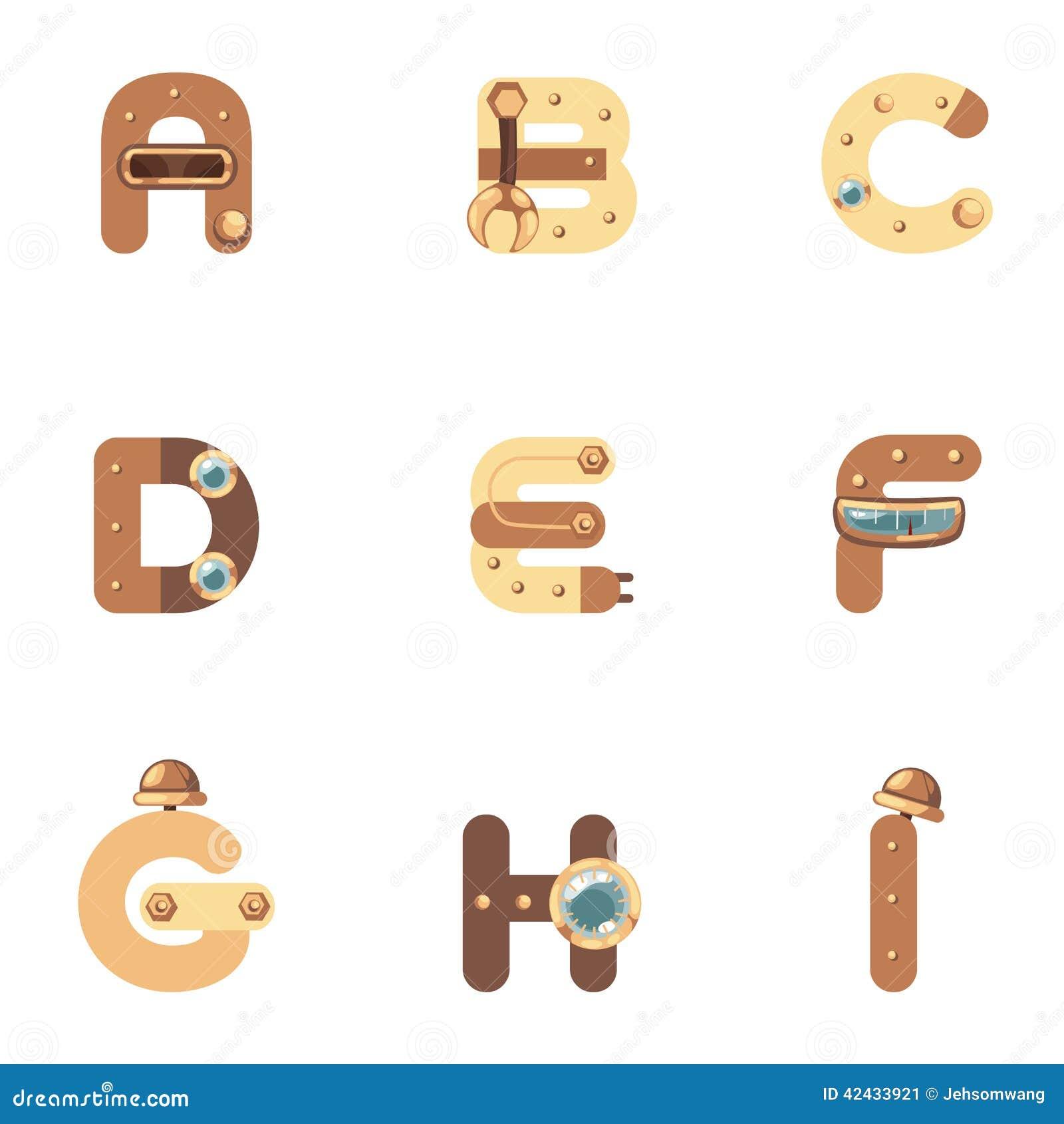 Alfabeto A-I Robot