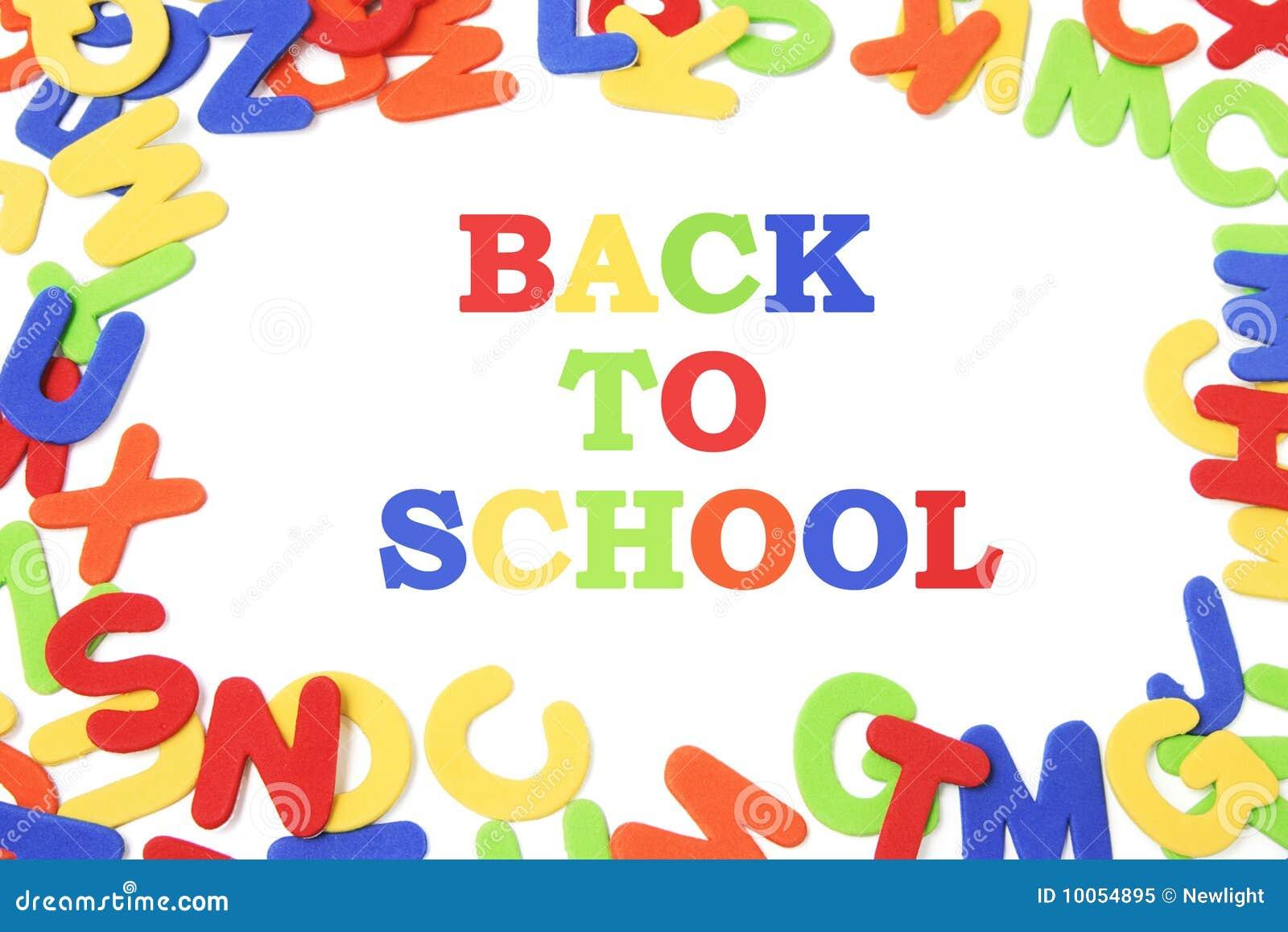 Alfabetos e de volta à escola