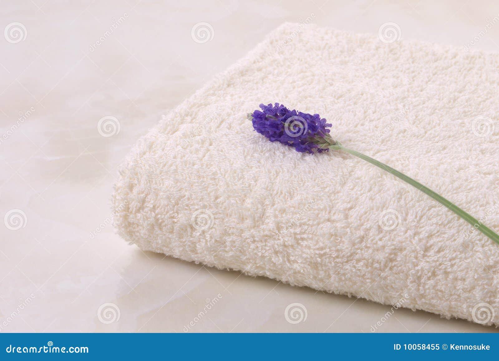 Alfazema e toalha