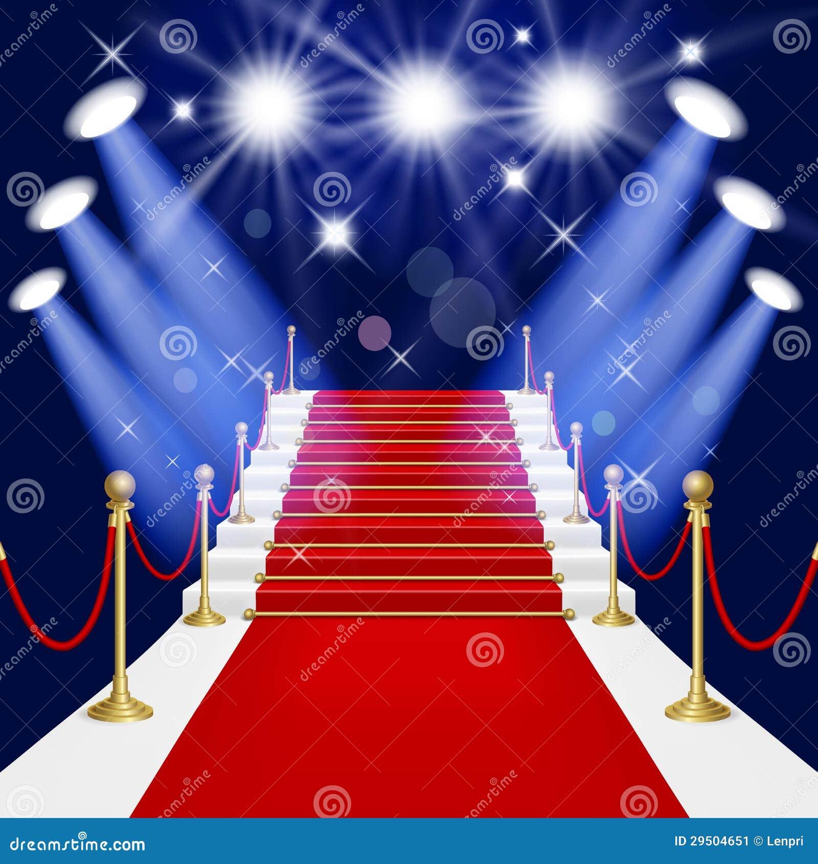 Alfombra roja con la escalera imagen de archivo imagen for Escaleras con alfombra