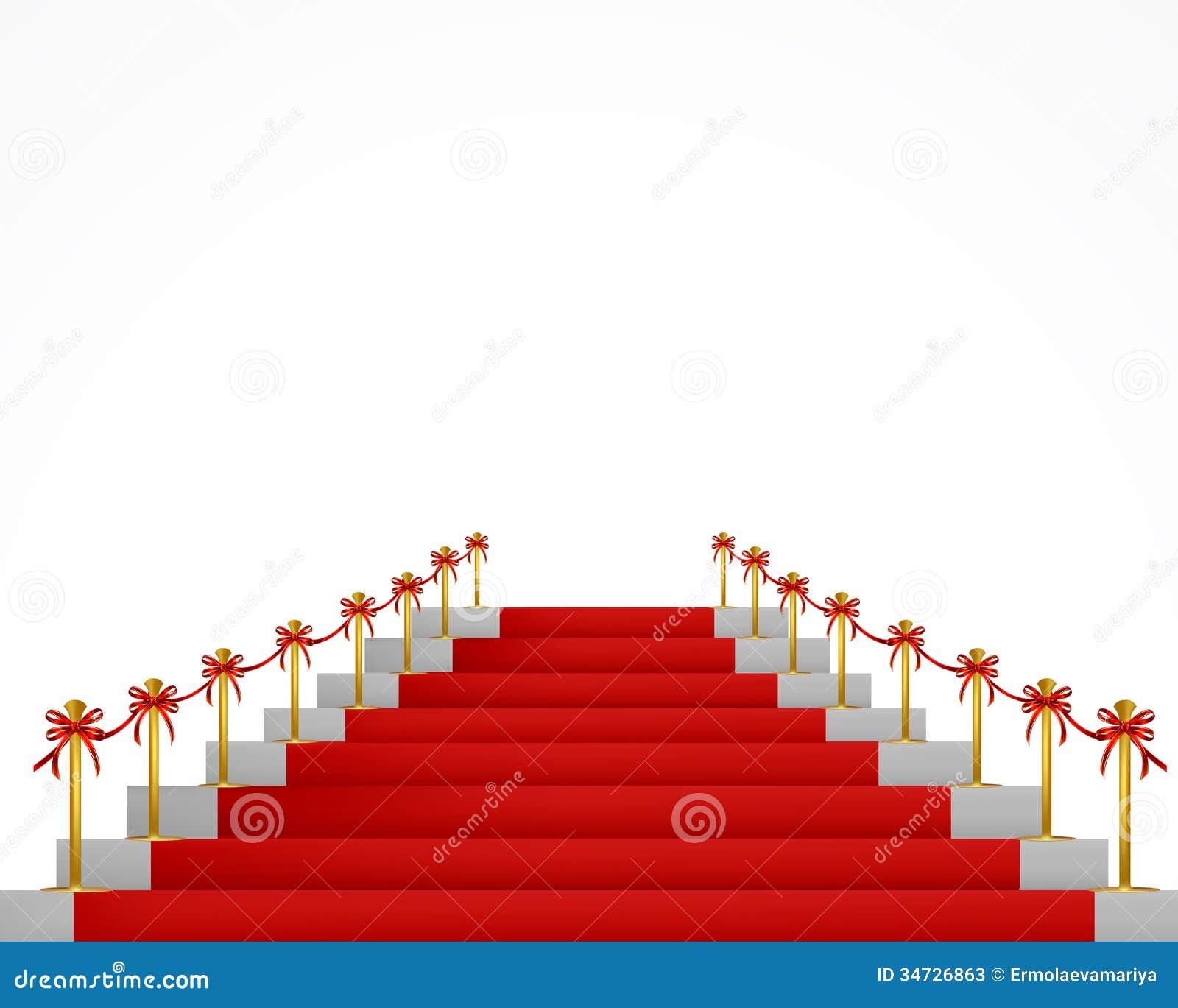 Alfombra roja y escaleras para las personas del vip - Alfombra para escalera ...