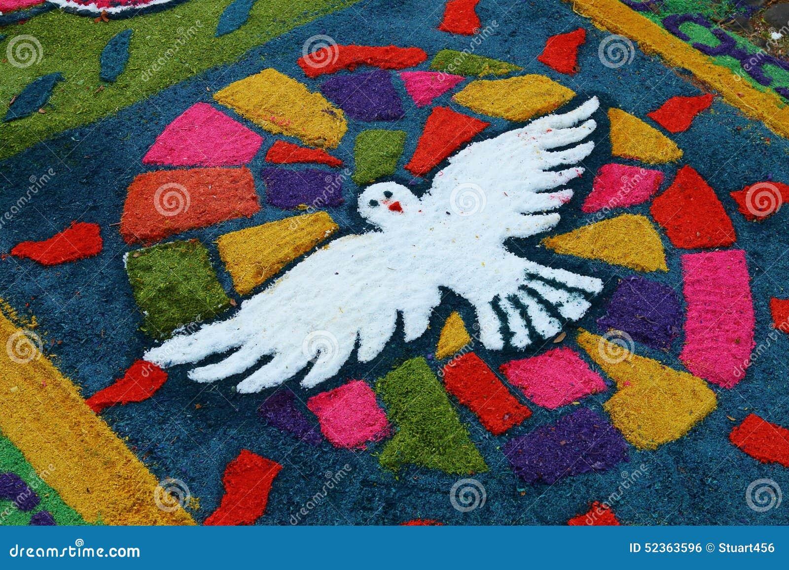 Alfombras para celebrar la semana santa el salvador foto for Dibujos para alfombras