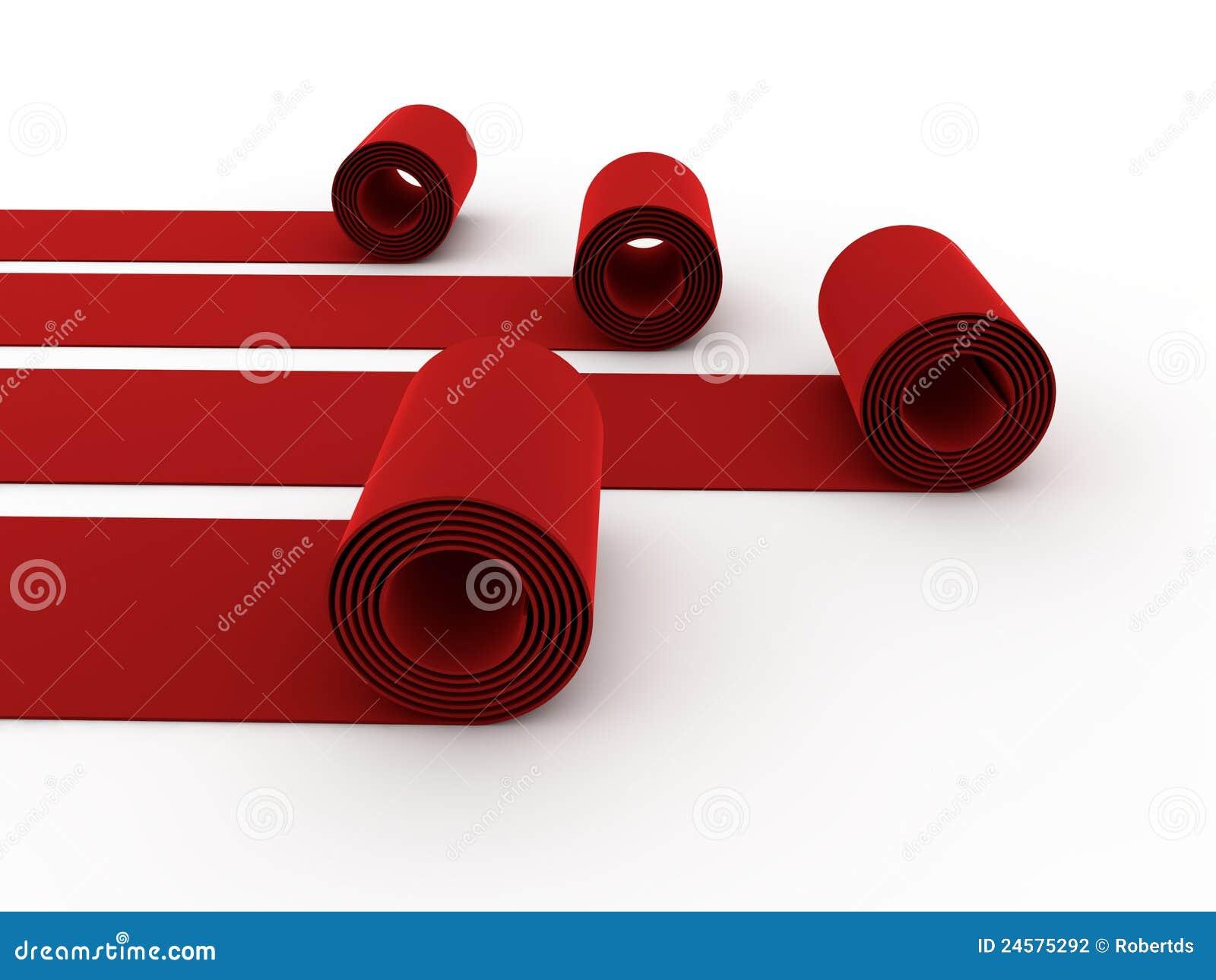 Alfombras rojas rodantes