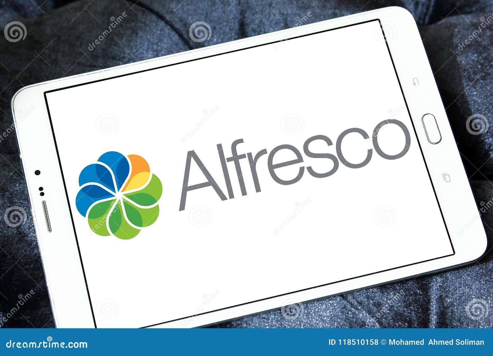 Alfresco software logo editorial stock photo  Image of java