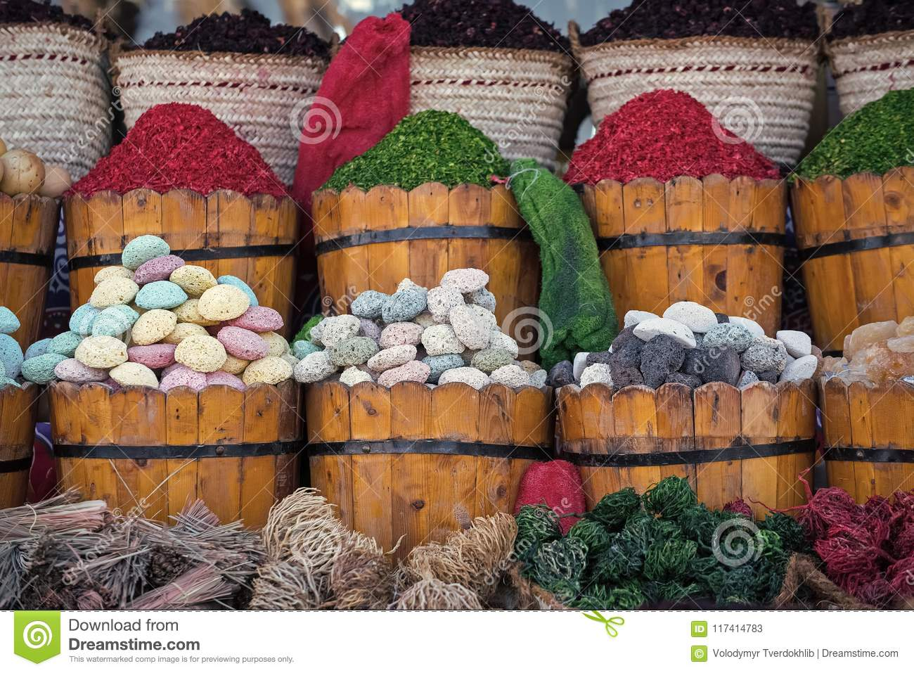 Algae Pumice Stones Goods For Bathing Stock Image - Image of bath ...
