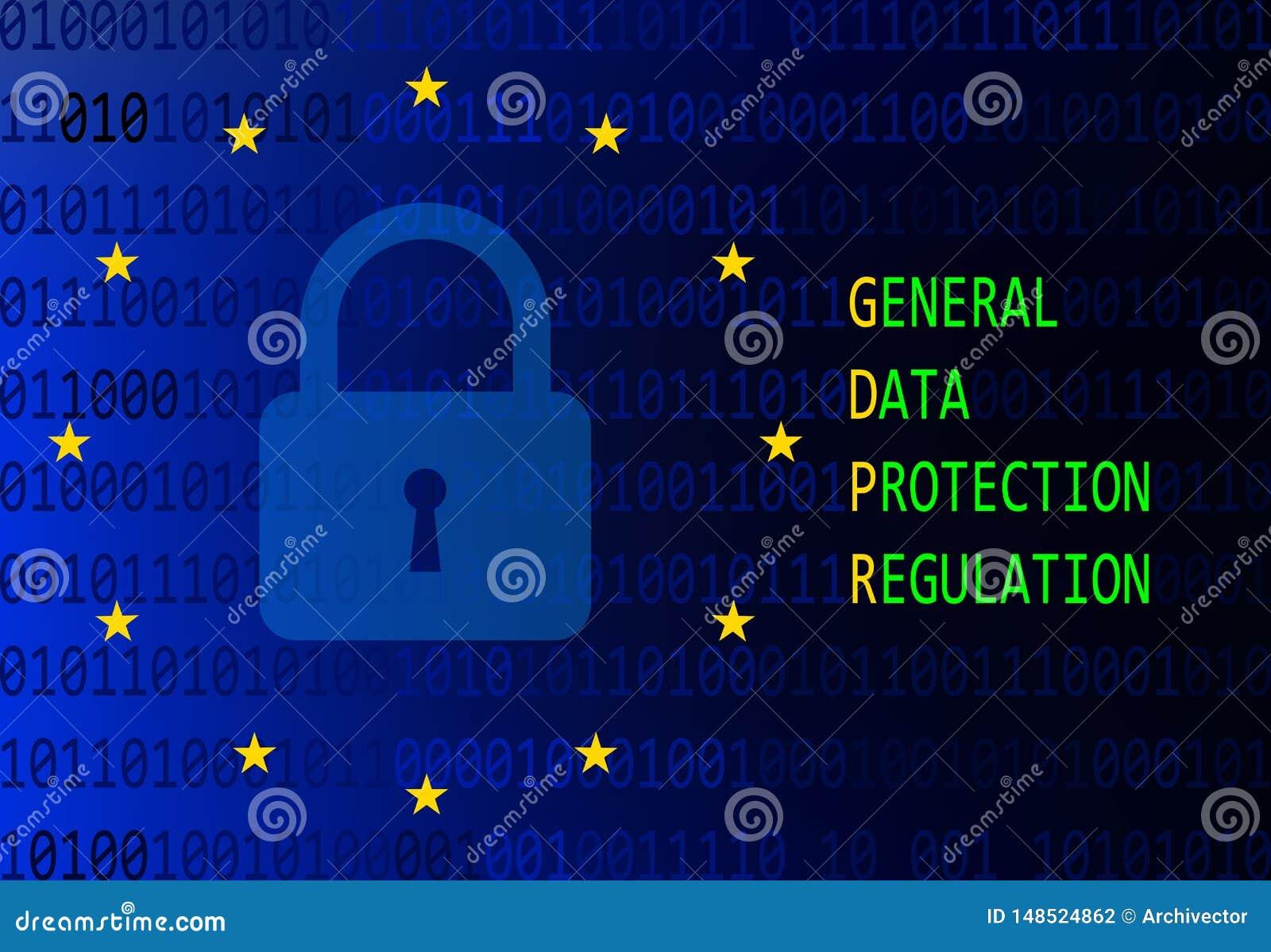 Algemeen gegevensbeschermingregelgeving teken