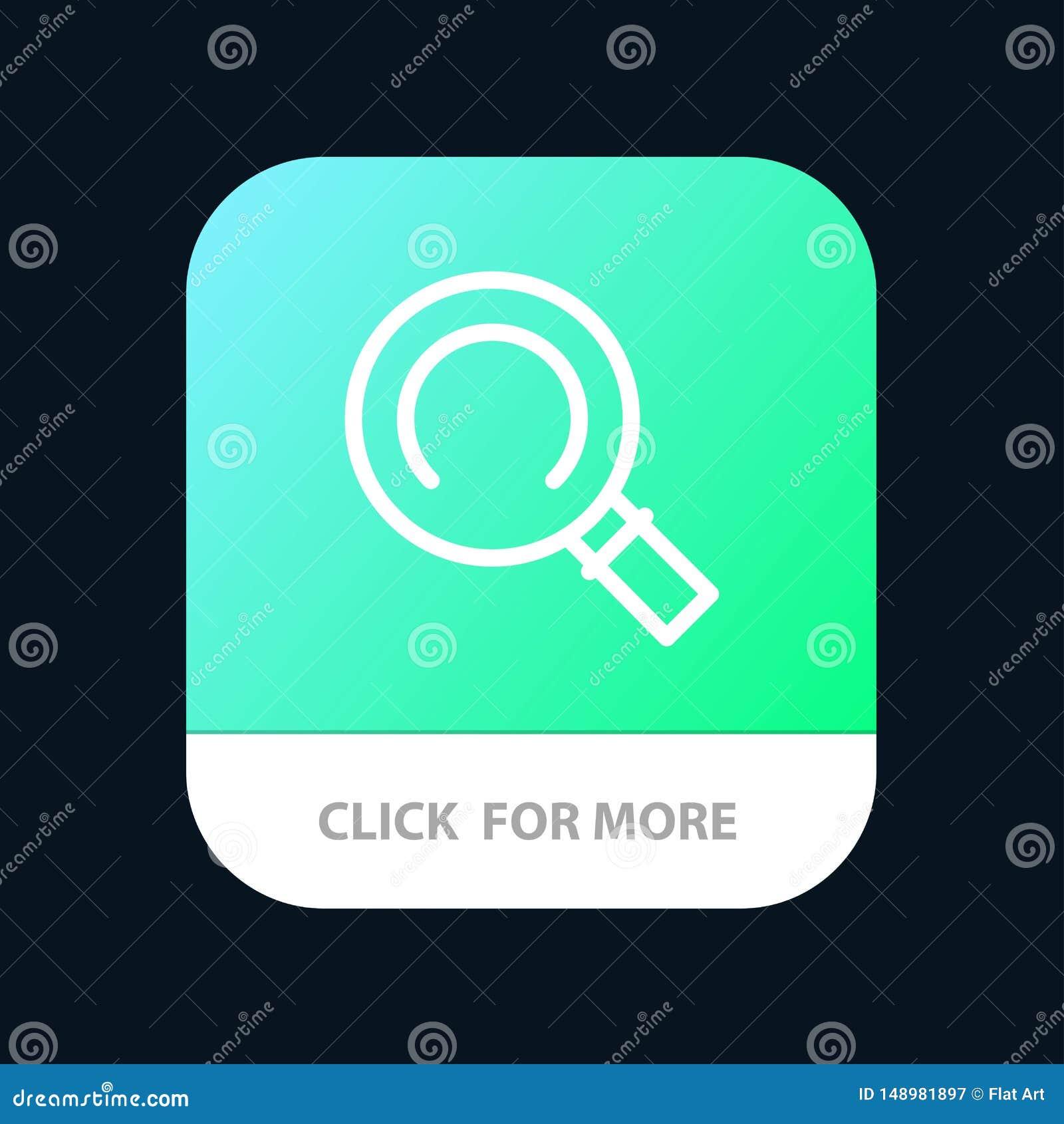 Algemeen, Magnifier, de Knoop van de Zoekenmobiele toepassing Android en IOS Lijnversie