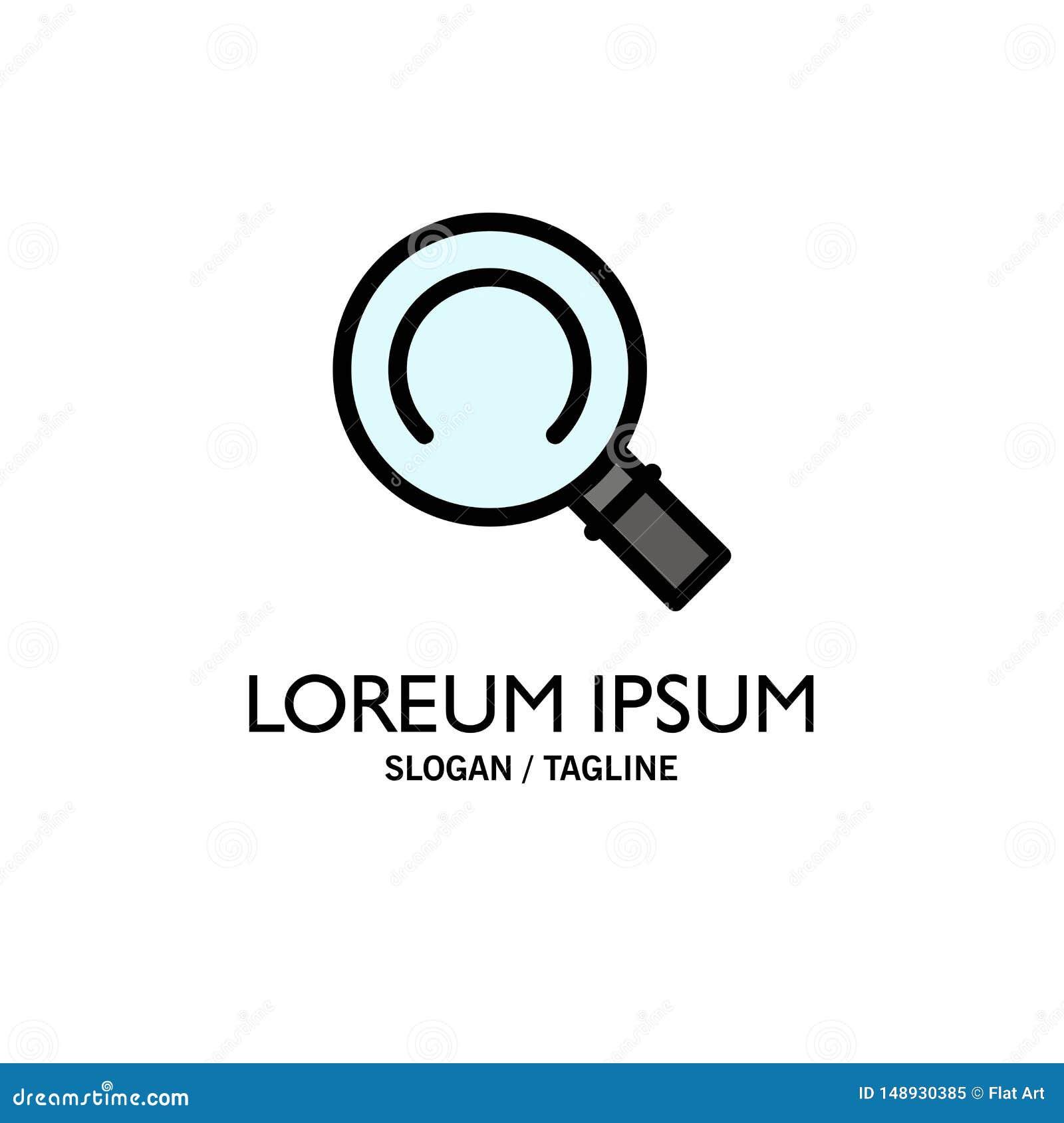 Algemeen, Magnifier, Zoekenzaken Logo Template vlakke kleur