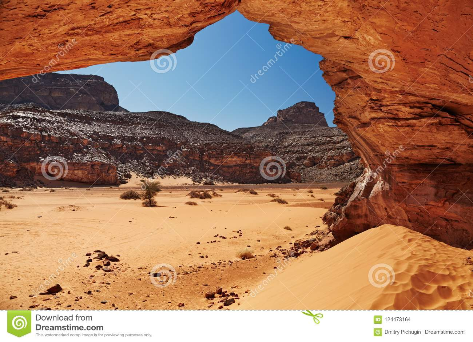 Algeria öken sahara