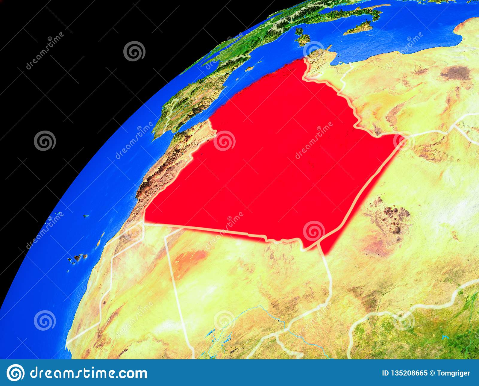 Algeria on Earth from space