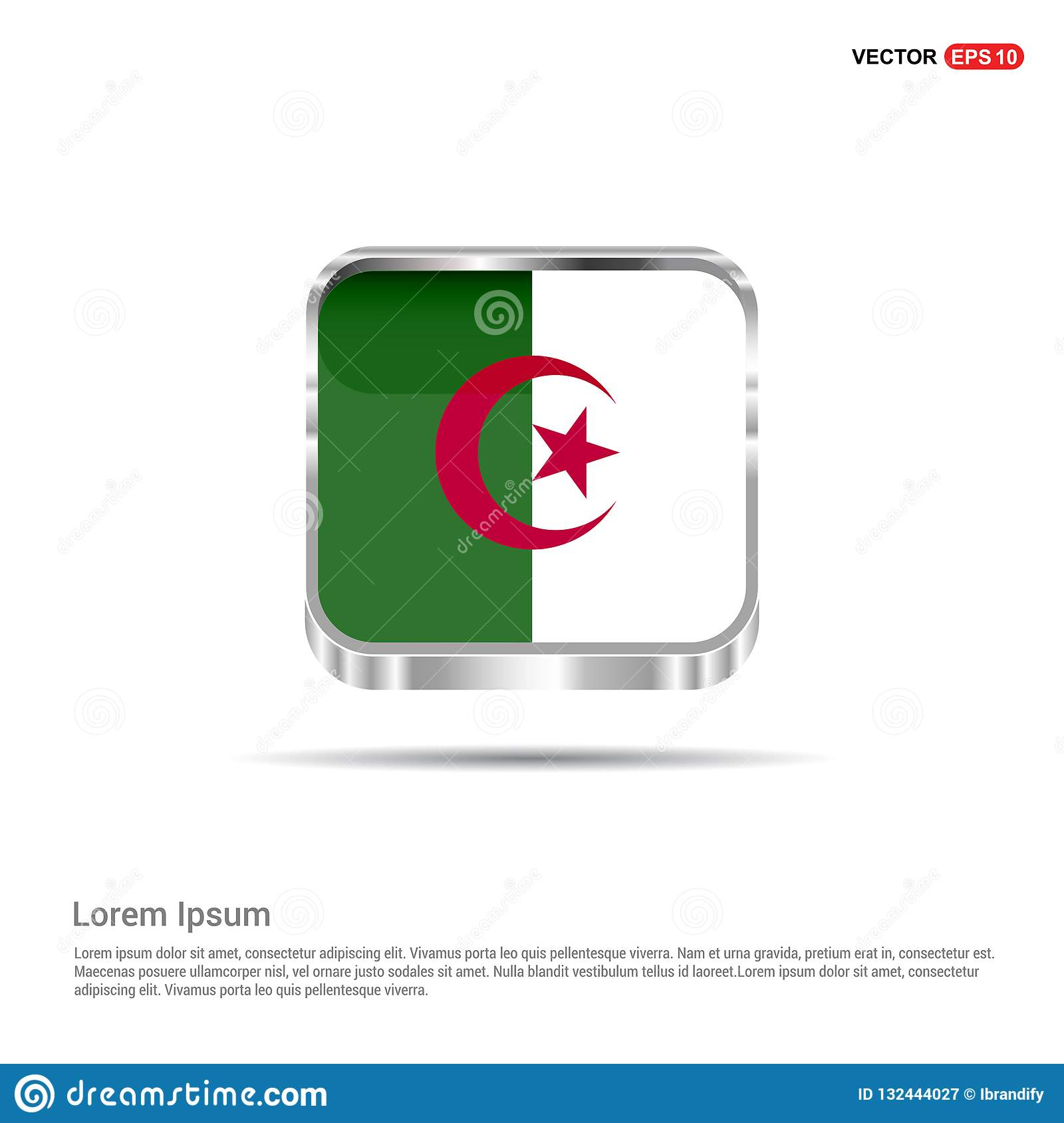 Algeria flag design vector stock vector  Illustration of