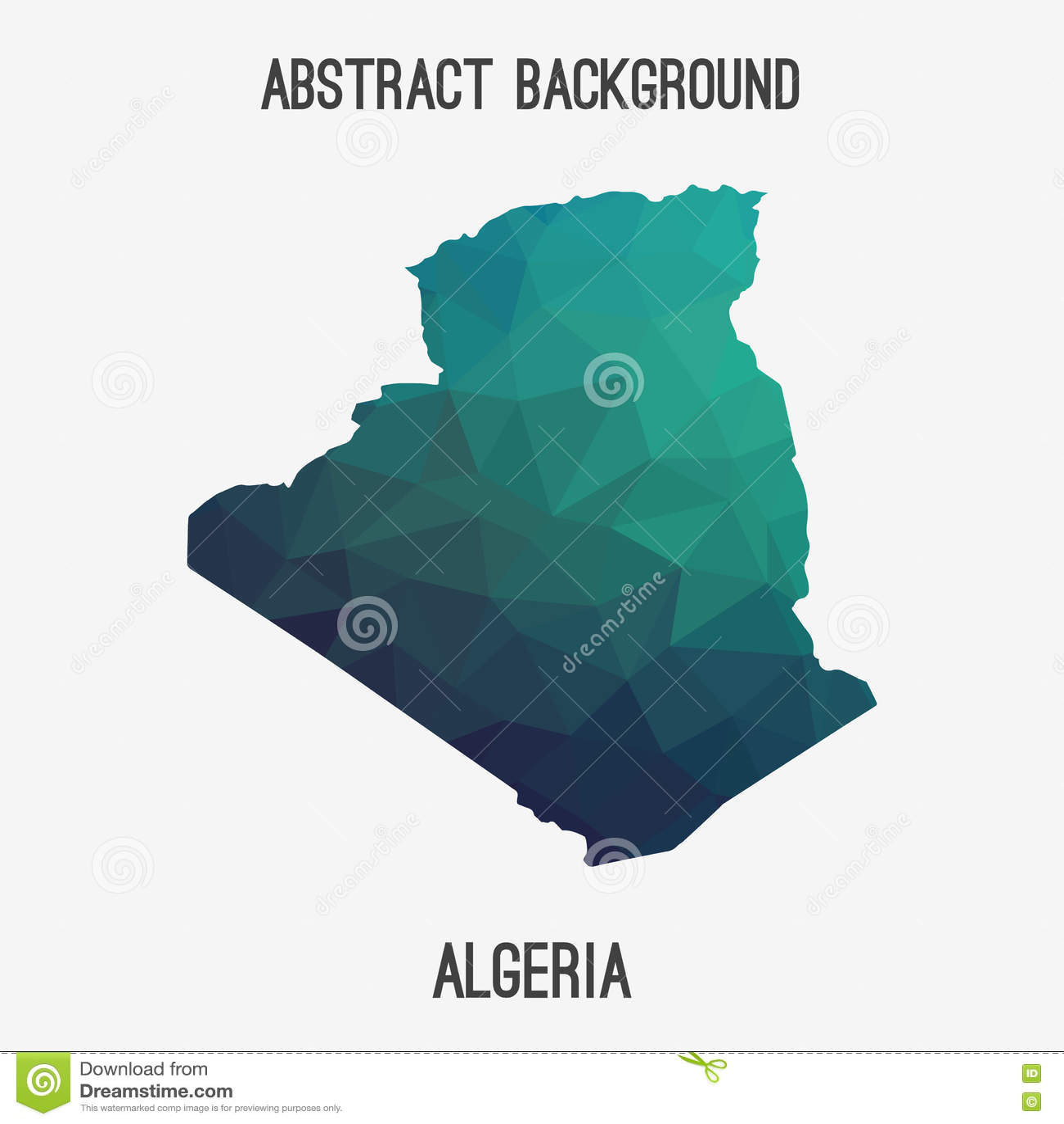Carte Algeria Vector.Algeria Map In Geometric Polygonal Mosaic Style Stock