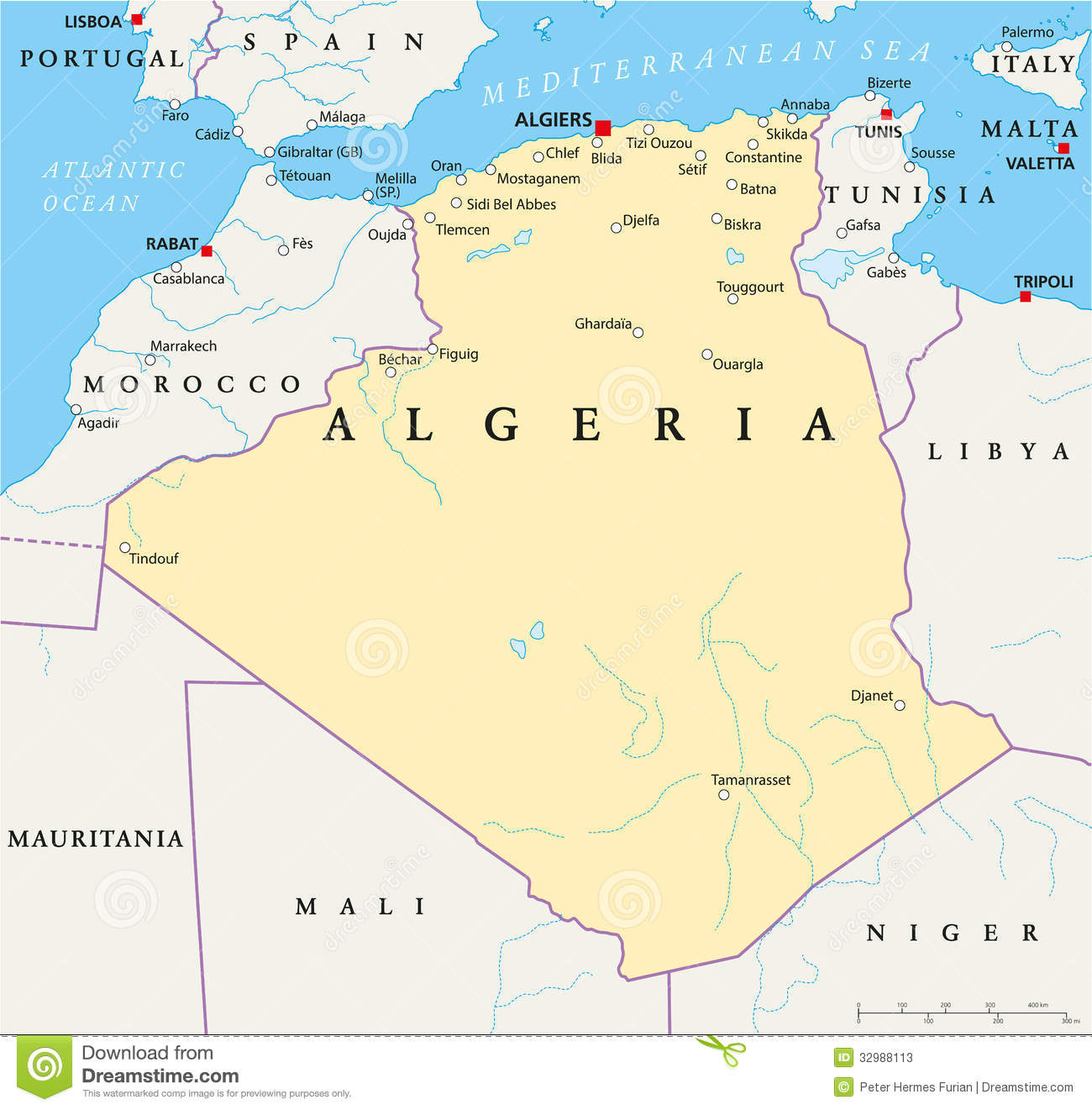 Algeria Political Map Stock Photos Image - Political map of algeria