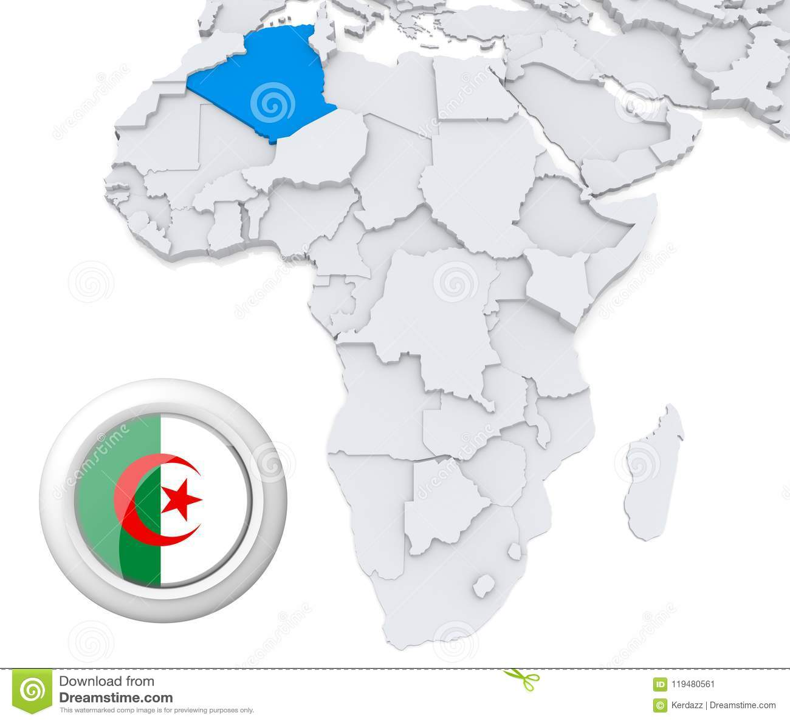 algeria on africa map Algeria On Africa Map Stock Illustration Illustration Of Global algeria on africa map