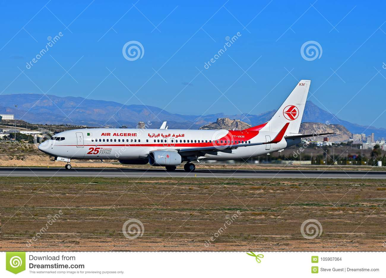 Air algerie at alicante airport editorial stock image - Stock uno alicante ...