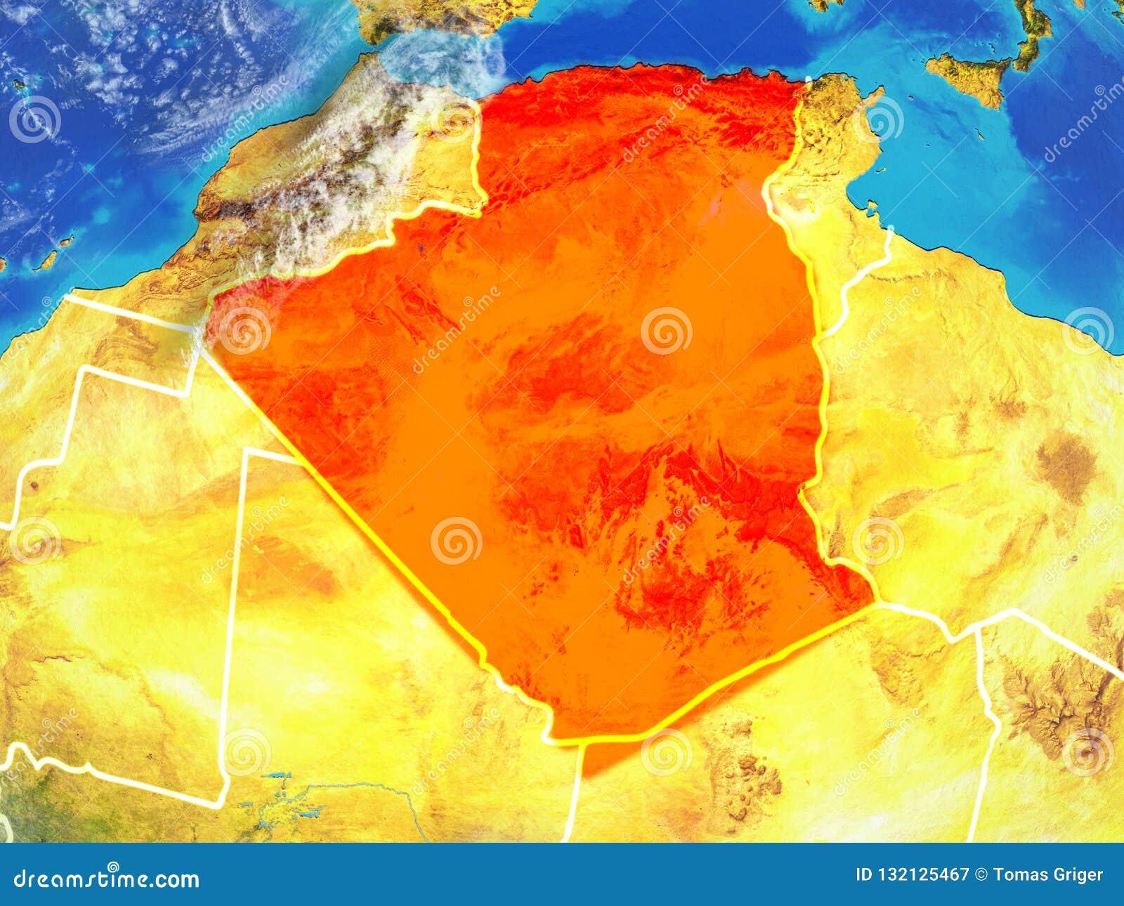 Algerien auf Erde vom Raum