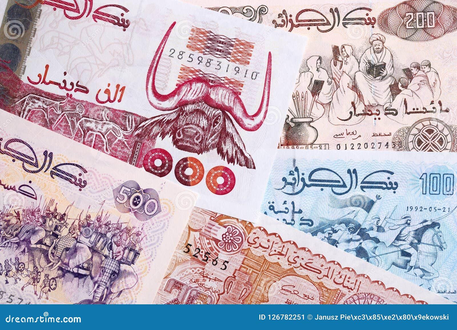 Algerisk dinar, en bakgrund